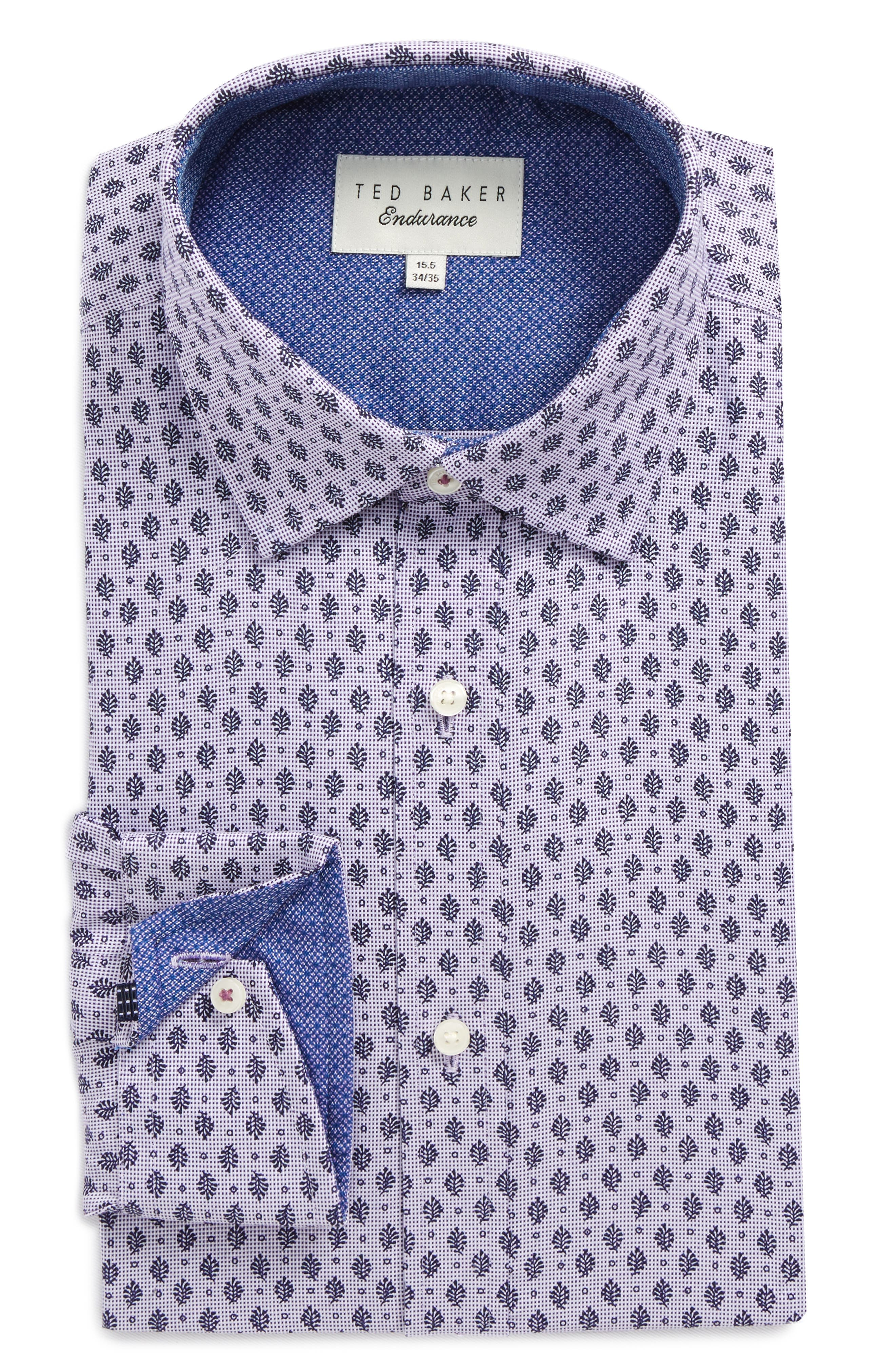 Ted Baker London Endurance Begbie Trim Fit Print Dress Shirt