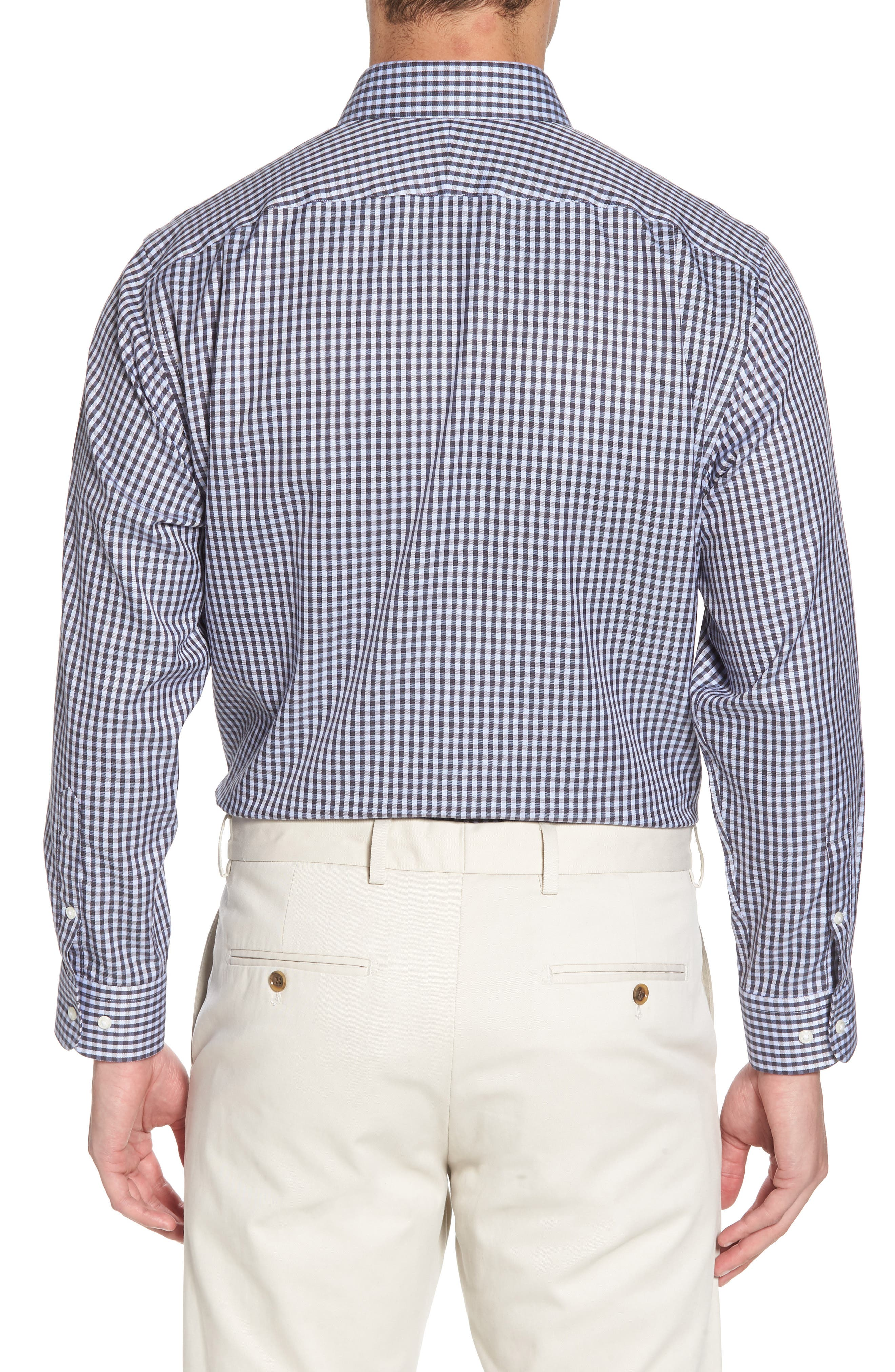 Smartcare<sup>™</sup> Traditional Fit Check Dress Shirt,                             Alternate thumbnail 3, color,                             Grey Stonehenge