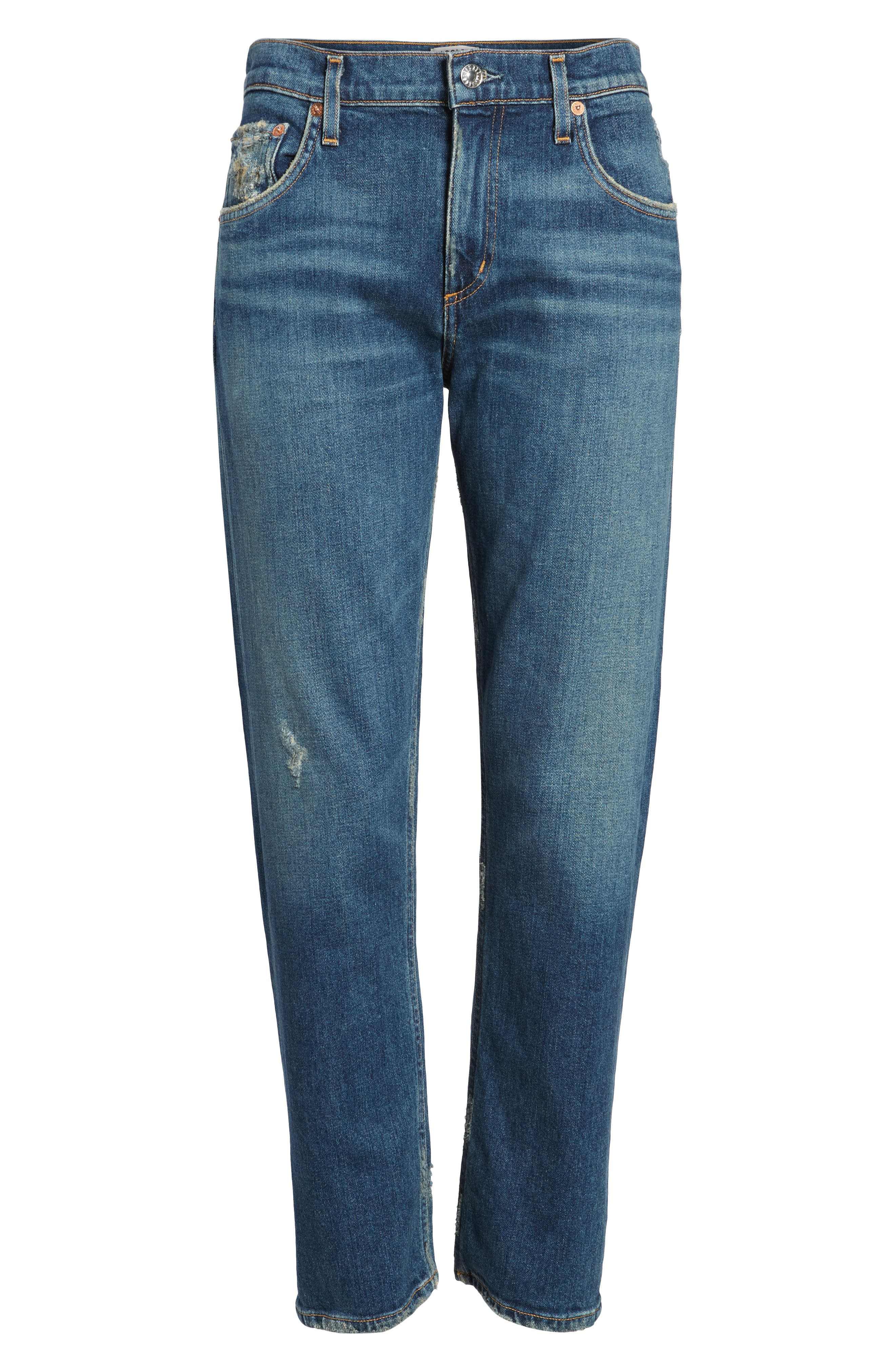 Isabel Ankle Slim Boyfriend Jeans,                             Alternate thumbnail 7, color,                             Sanctuary