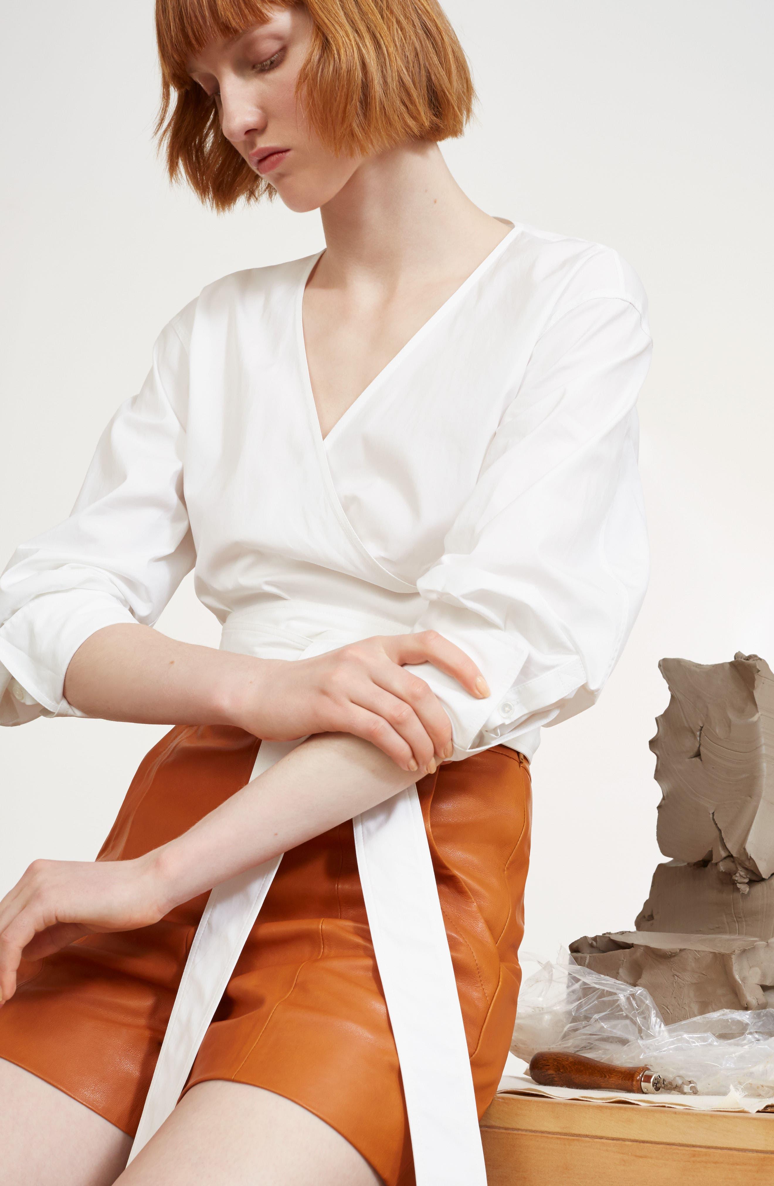 Leather Sailor Shorts,                             Alternate thumbnail 2, color,