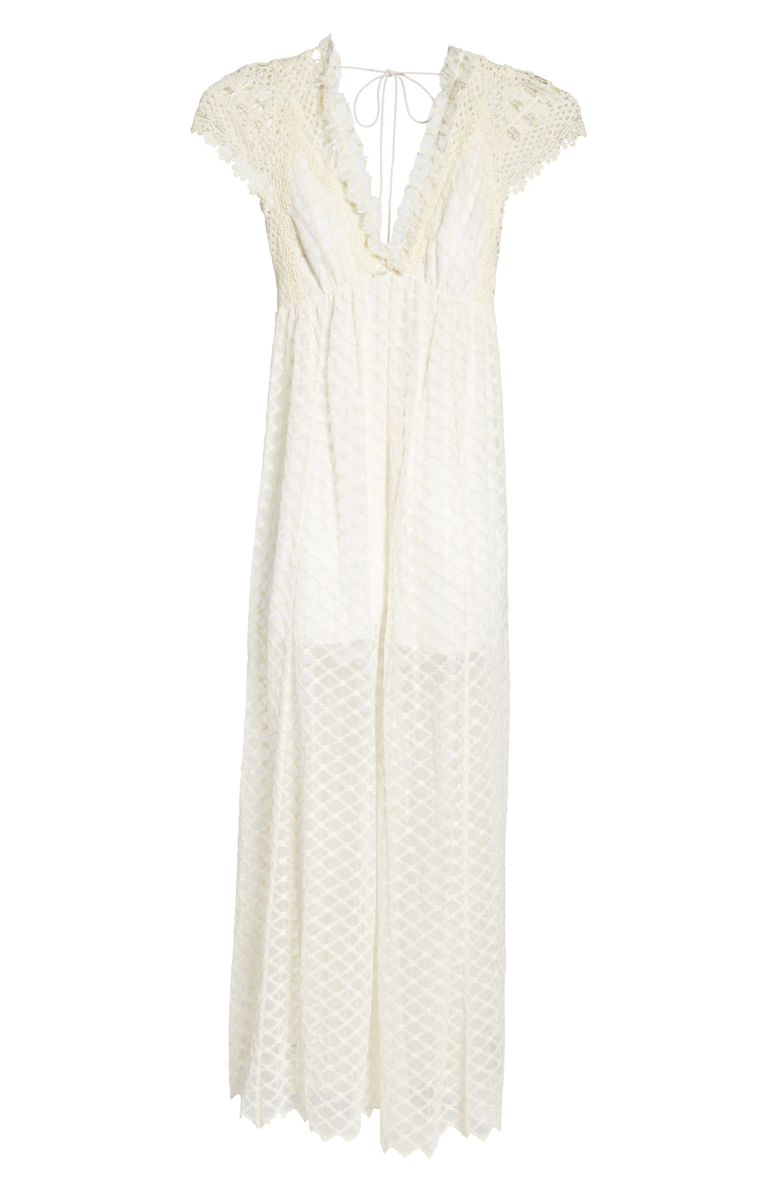 Chleo Embroidered Jumpsuit,                             Alternate thumbnail 6, color,                             Cream
