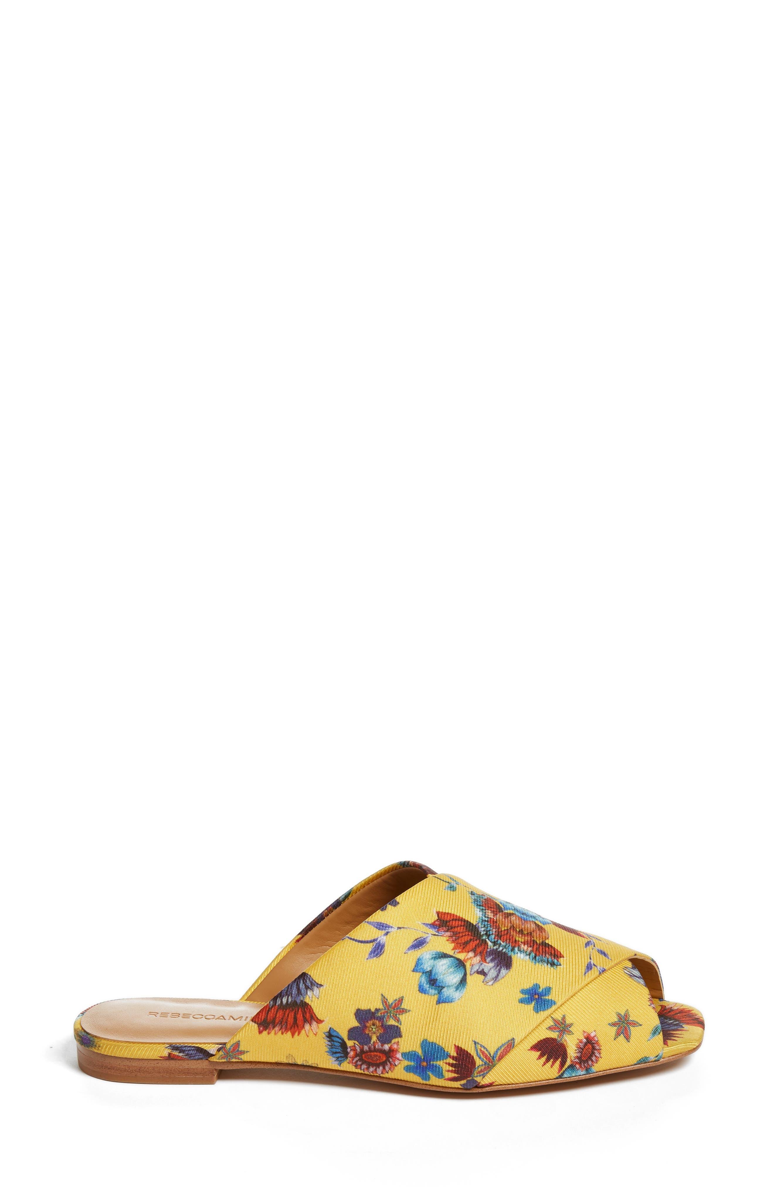 Anden Slide Sandal,                             Alternate thumbnail 3, color,                             Butterscotch Multi Print Silk
