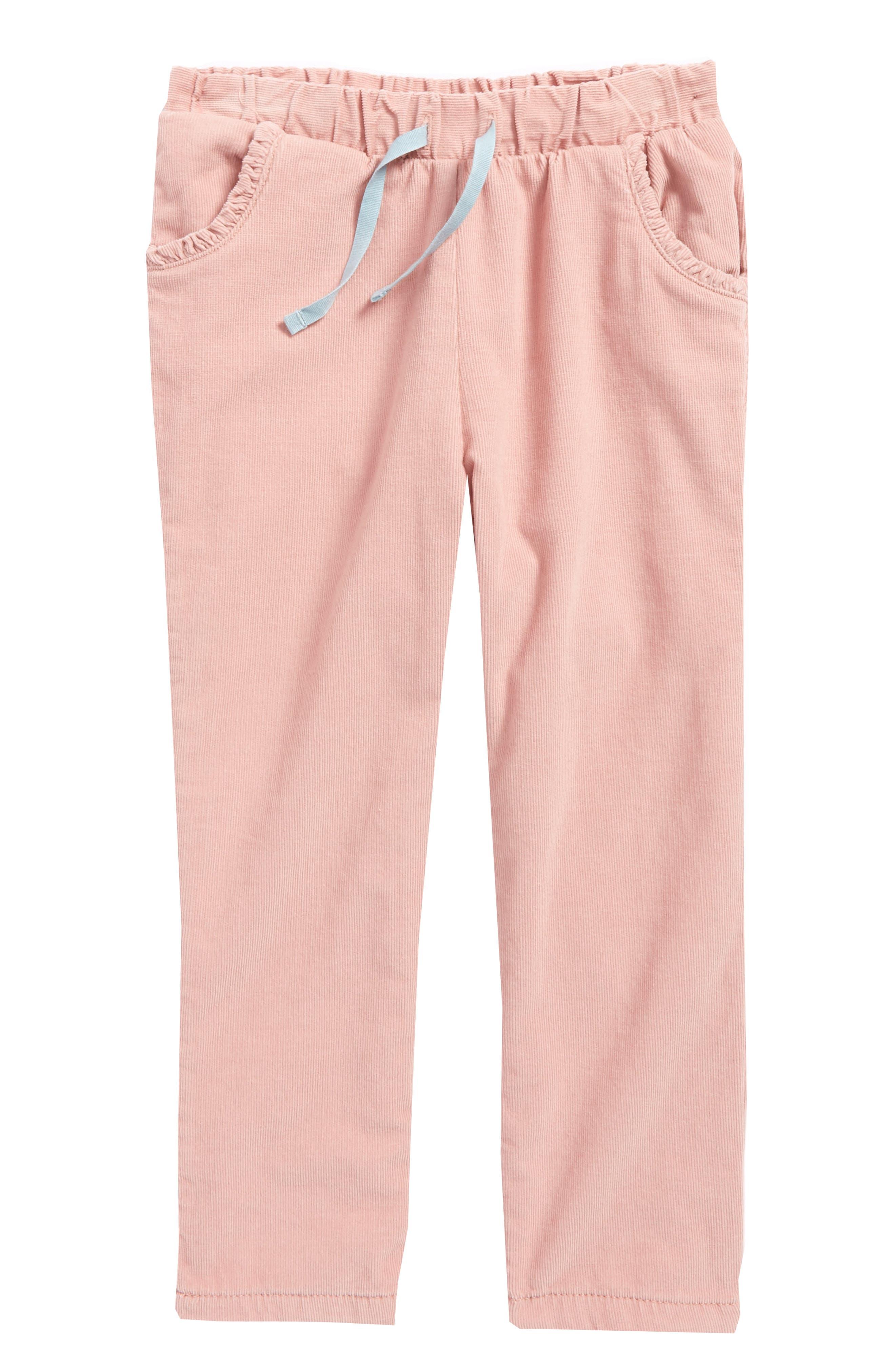 Main Image - Mini Boden Heart Pocket Corduroy Pants (Baby Girls & Toddler Girls)