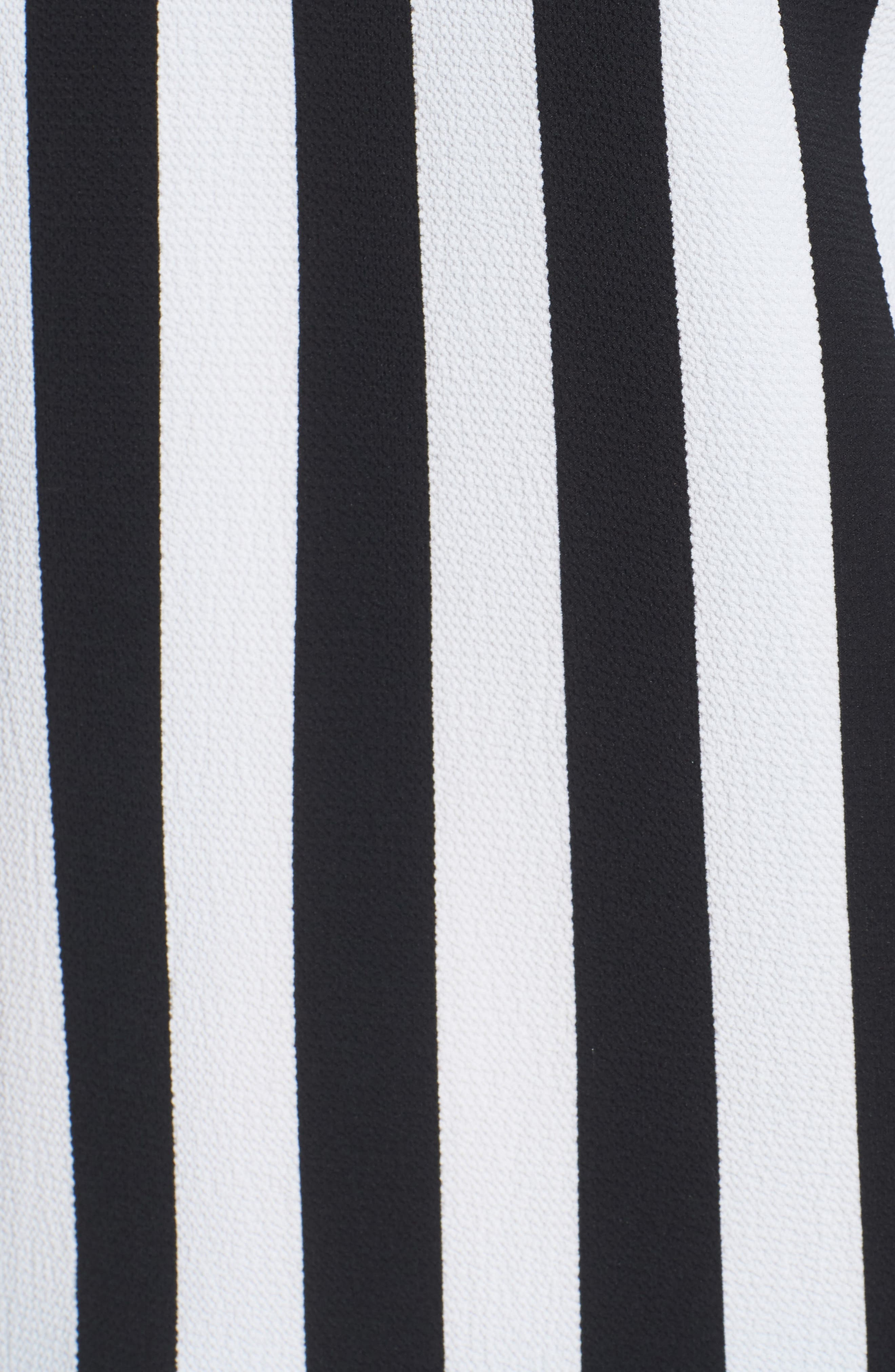 Spectator Stripe Tie Cuff Blouse,                             Alternate thumbnail 7, color,                             Rich Black