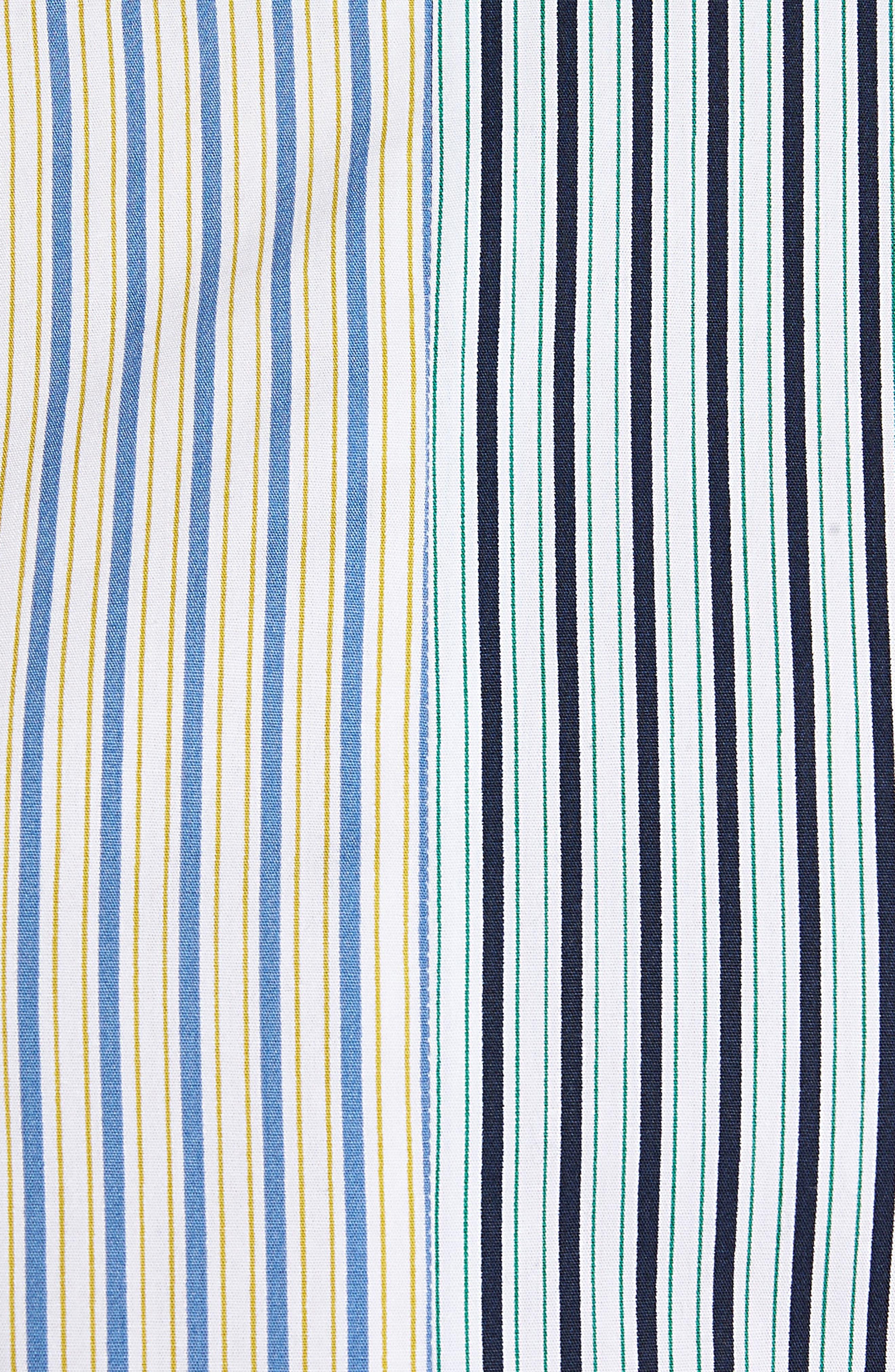 Mixed Stripe Cotton Shirt,                             Alternate thumbnail 5, color,                             White Multi Mix Stripe