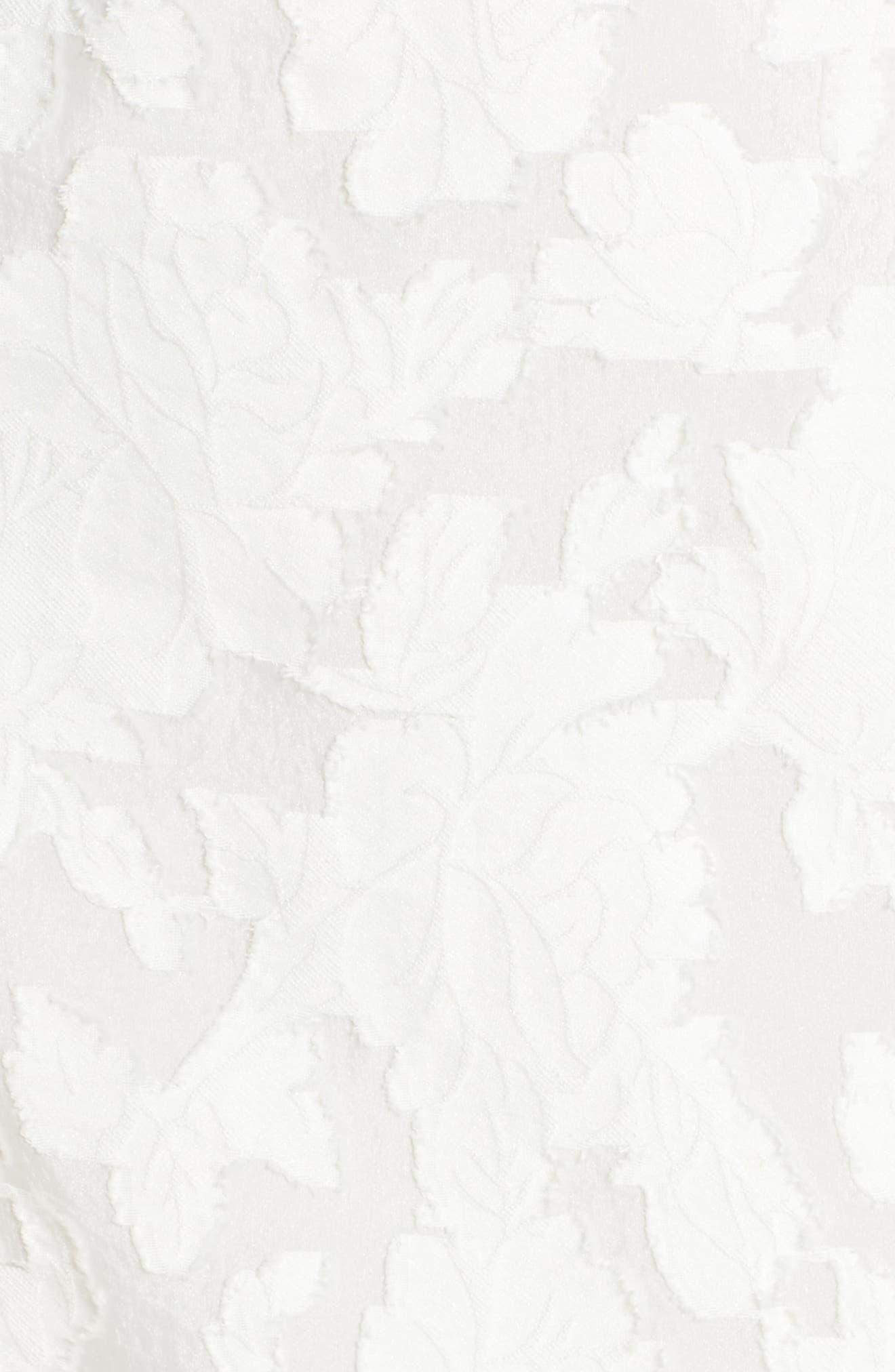 Lace Flare Hem Midi Dress,                             Alternate thumbnail 5, color,                             White