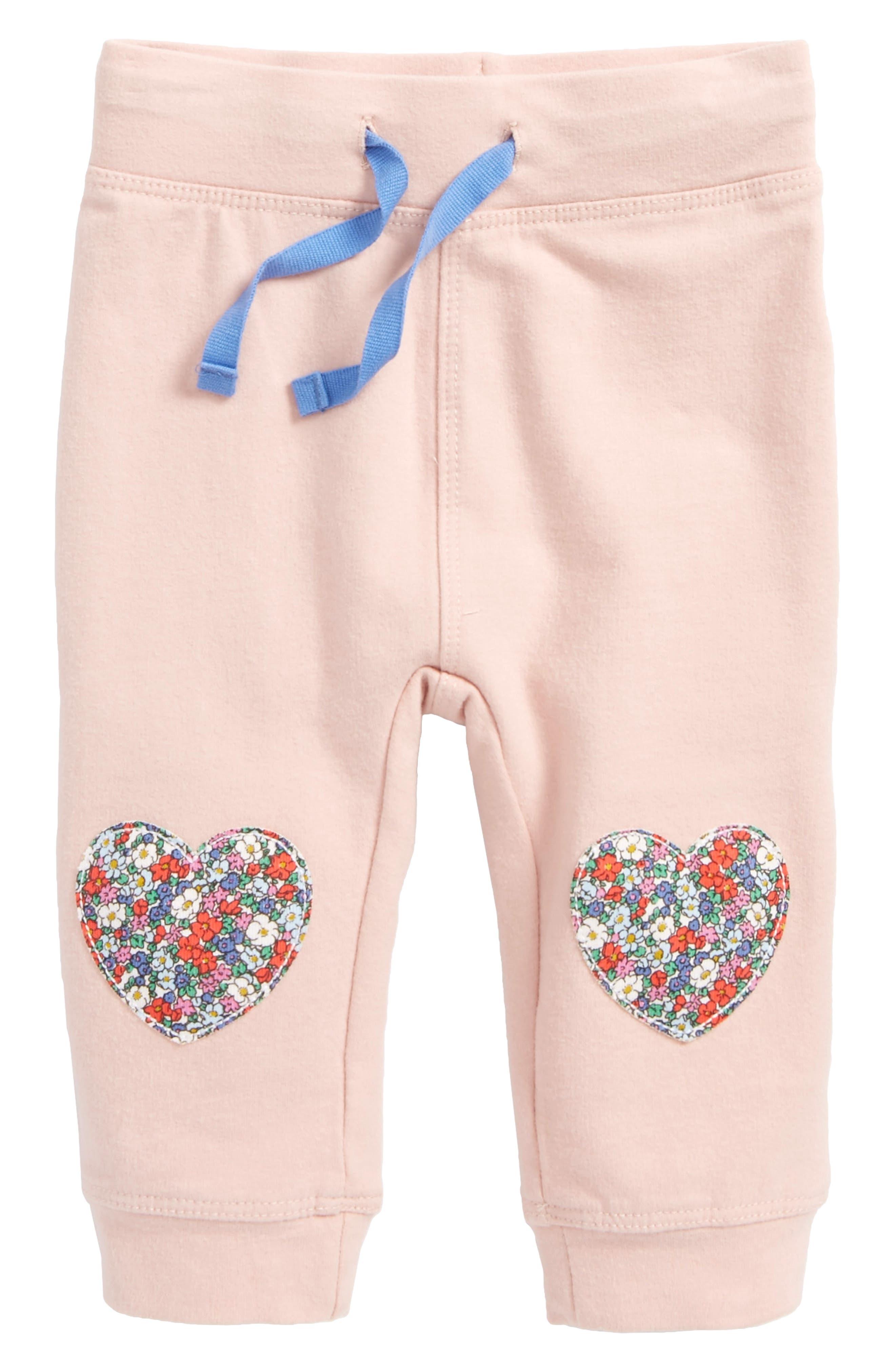 Fun Knee Appliqué Leggings,                         Main,                         color, Dusty Pink Hearts