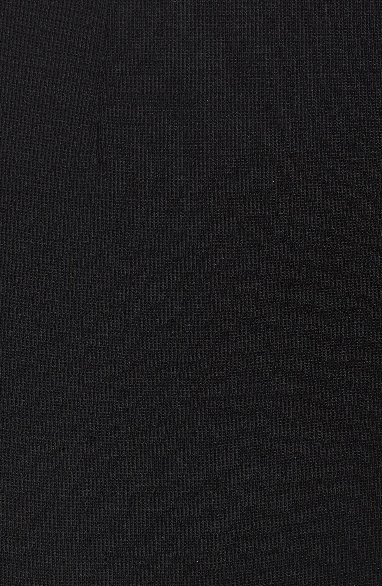 Crop Knit Pants,                             Alternate thumbnail 6, color,                             Black