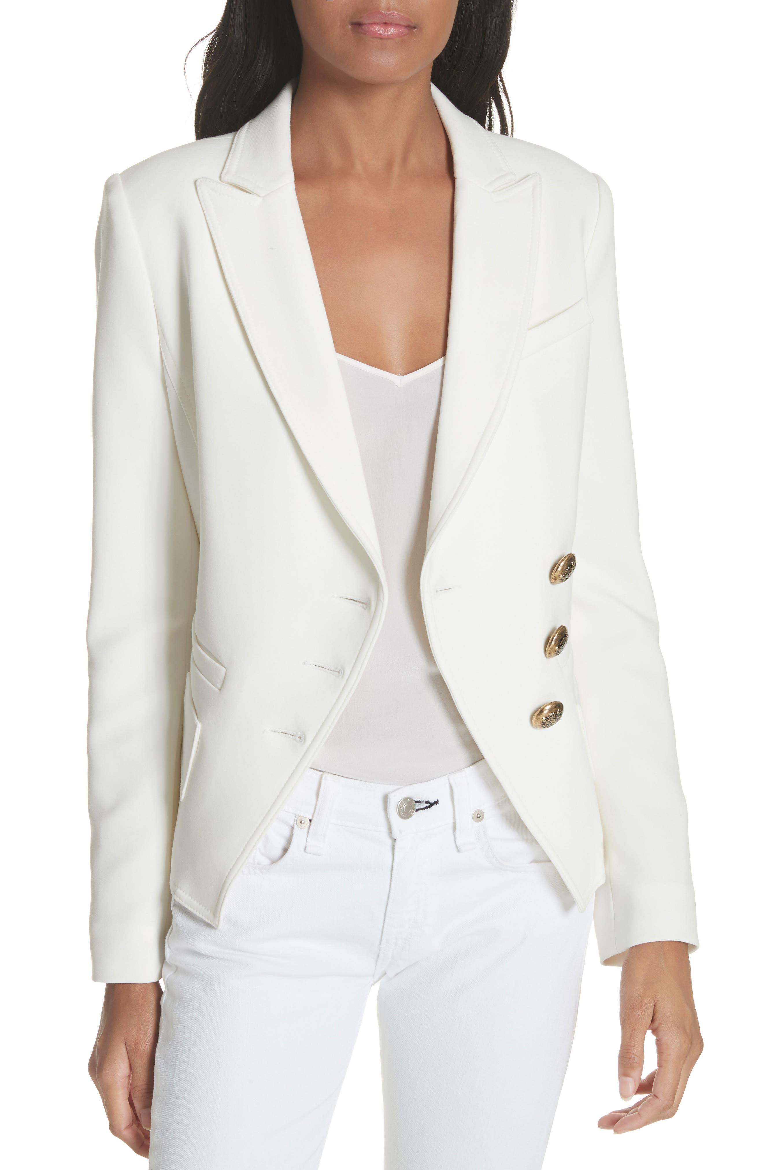 Wrap Blazer,                         Main,                         color, White