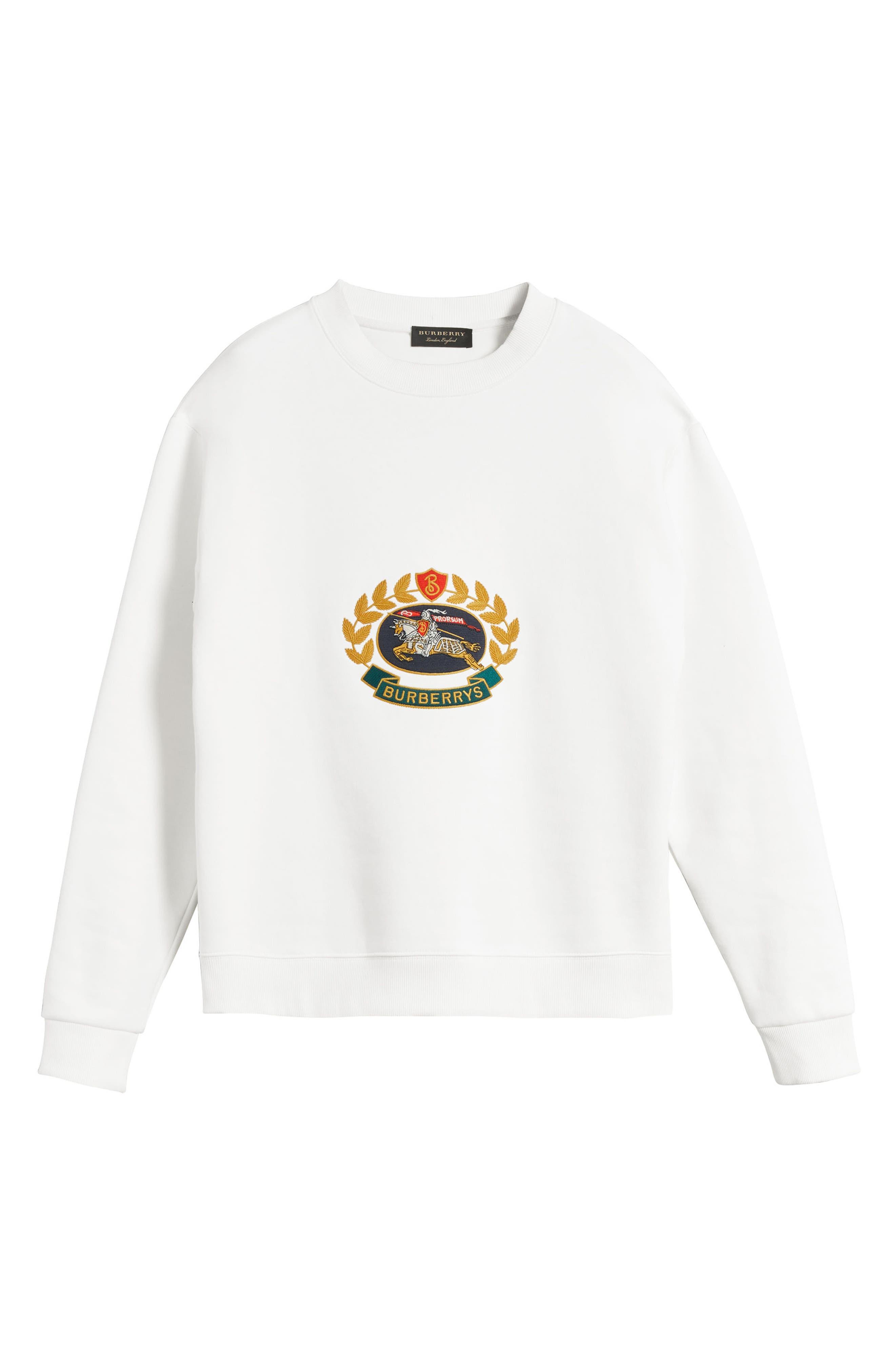 Vintage Crest Sweatshirt,                             Alternate thumbnail 4, color,                             Off White