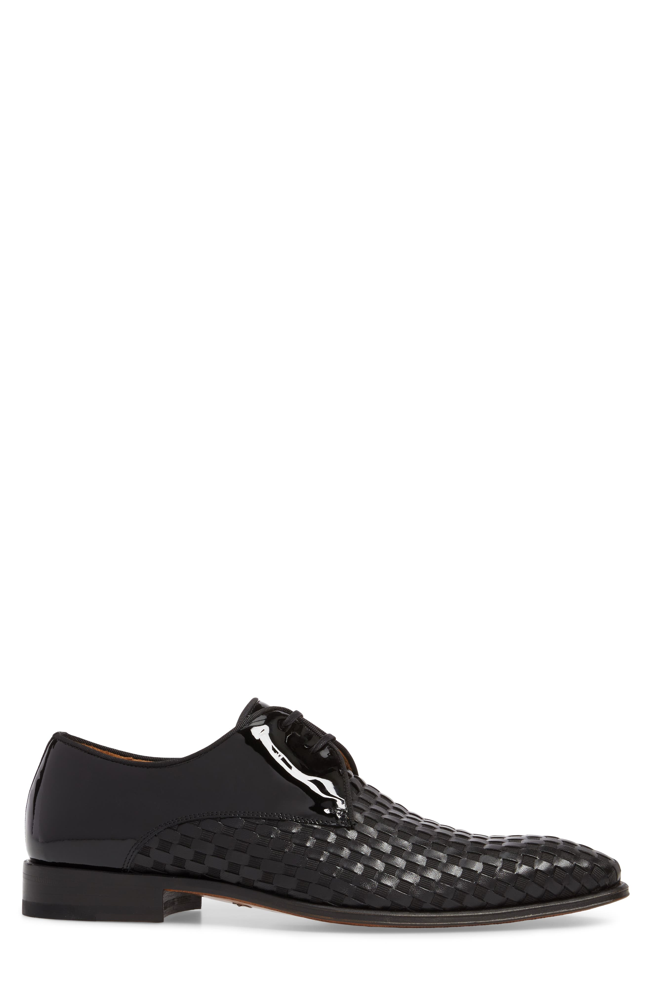 Sexto Plain Toe Derby,                             Alternate thumbnail 3, color,                             Black Leather