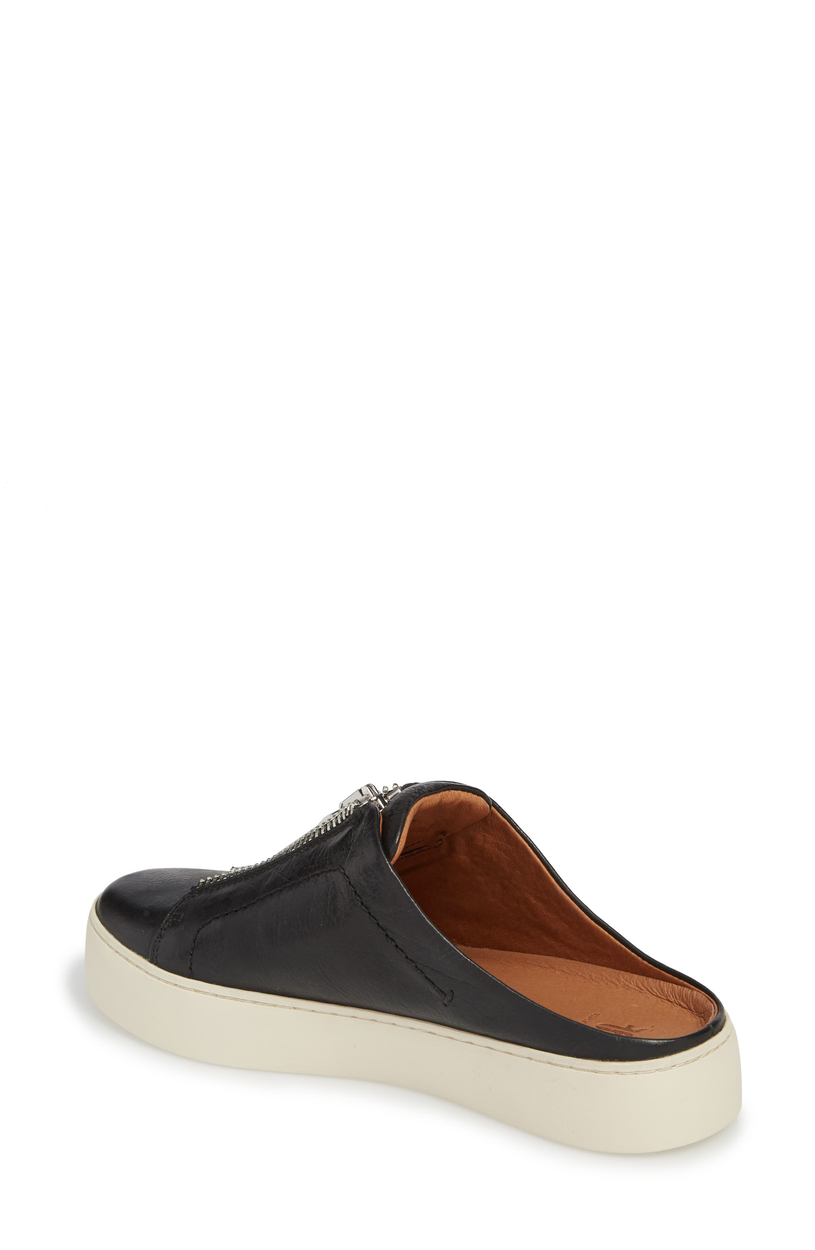 Lena Platform Sneaker Mule,                             Alternate thumbnail 2, color,                             Black Leather