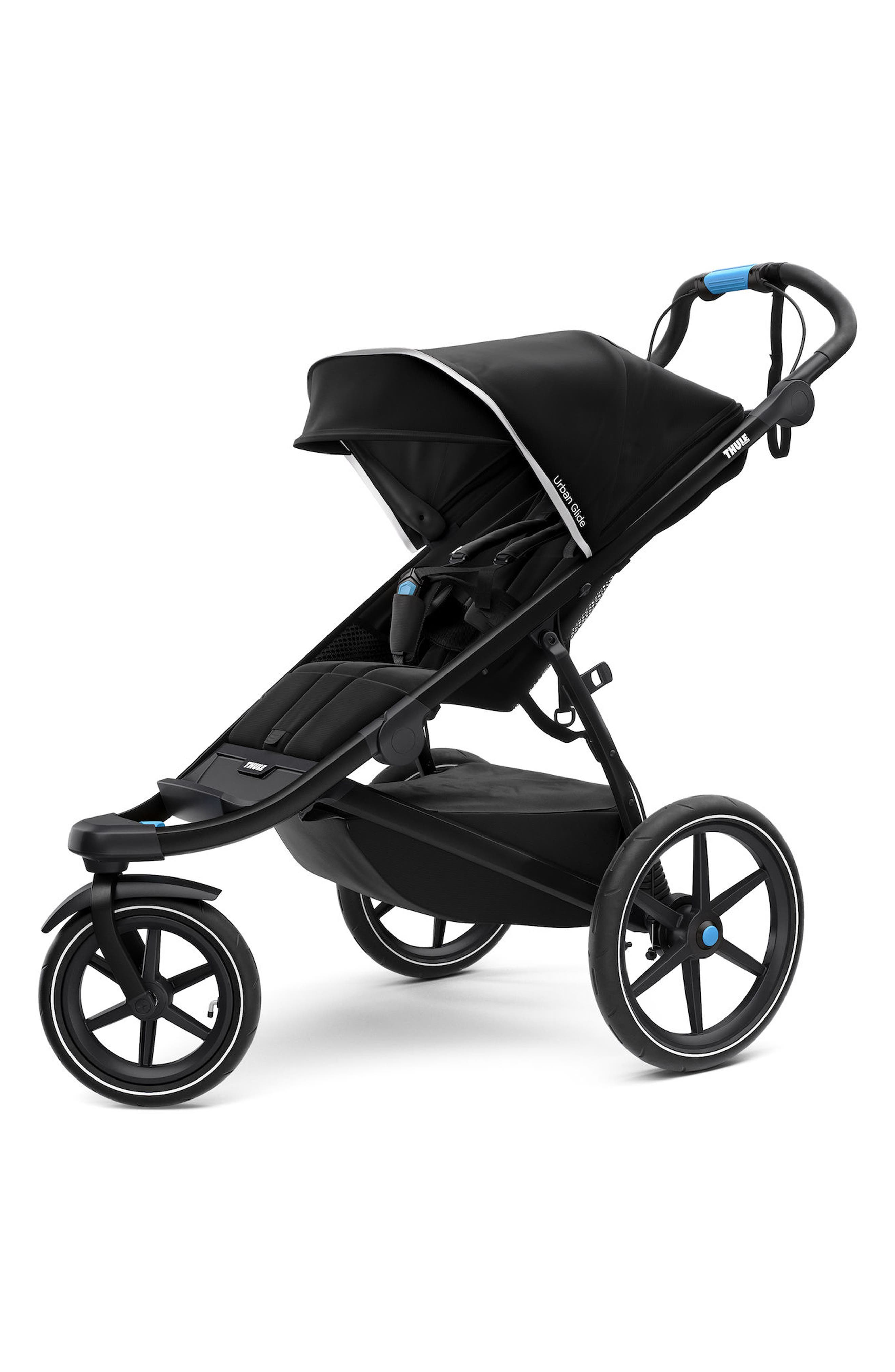 Urban Glide 2 Jogging Stroller with Silver Frame,                             Main thumbnail 1, color,                             Black/ Black Frame