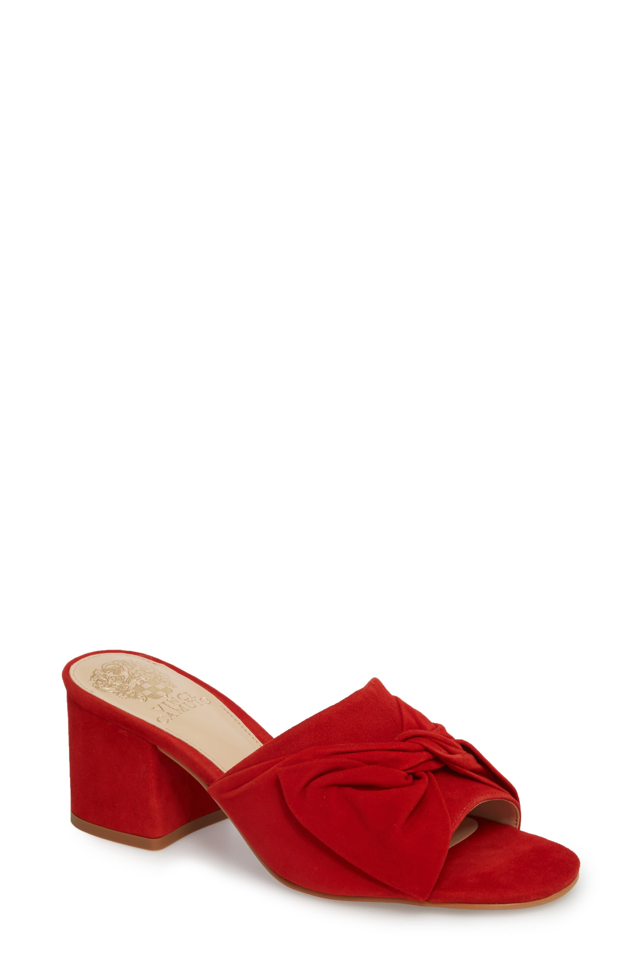 Sharrey Sandal,                             Main thumbnail 1, color,                             Red Hot Rio Suede