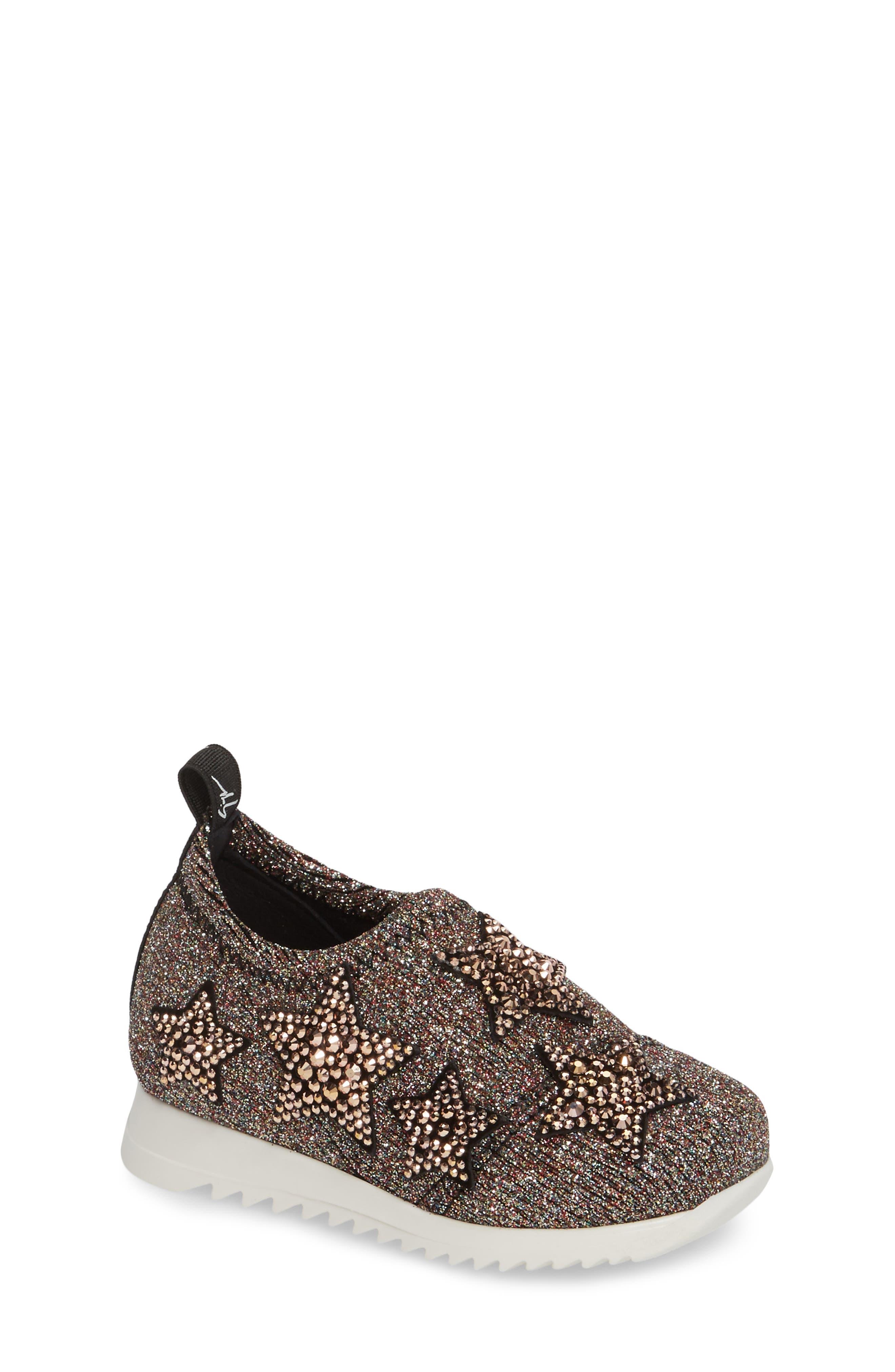 Giuseppe Zanotti Natalie Star Glitter Slip-On Sneaker (Baby, Walker, Toddler & Little Kid)