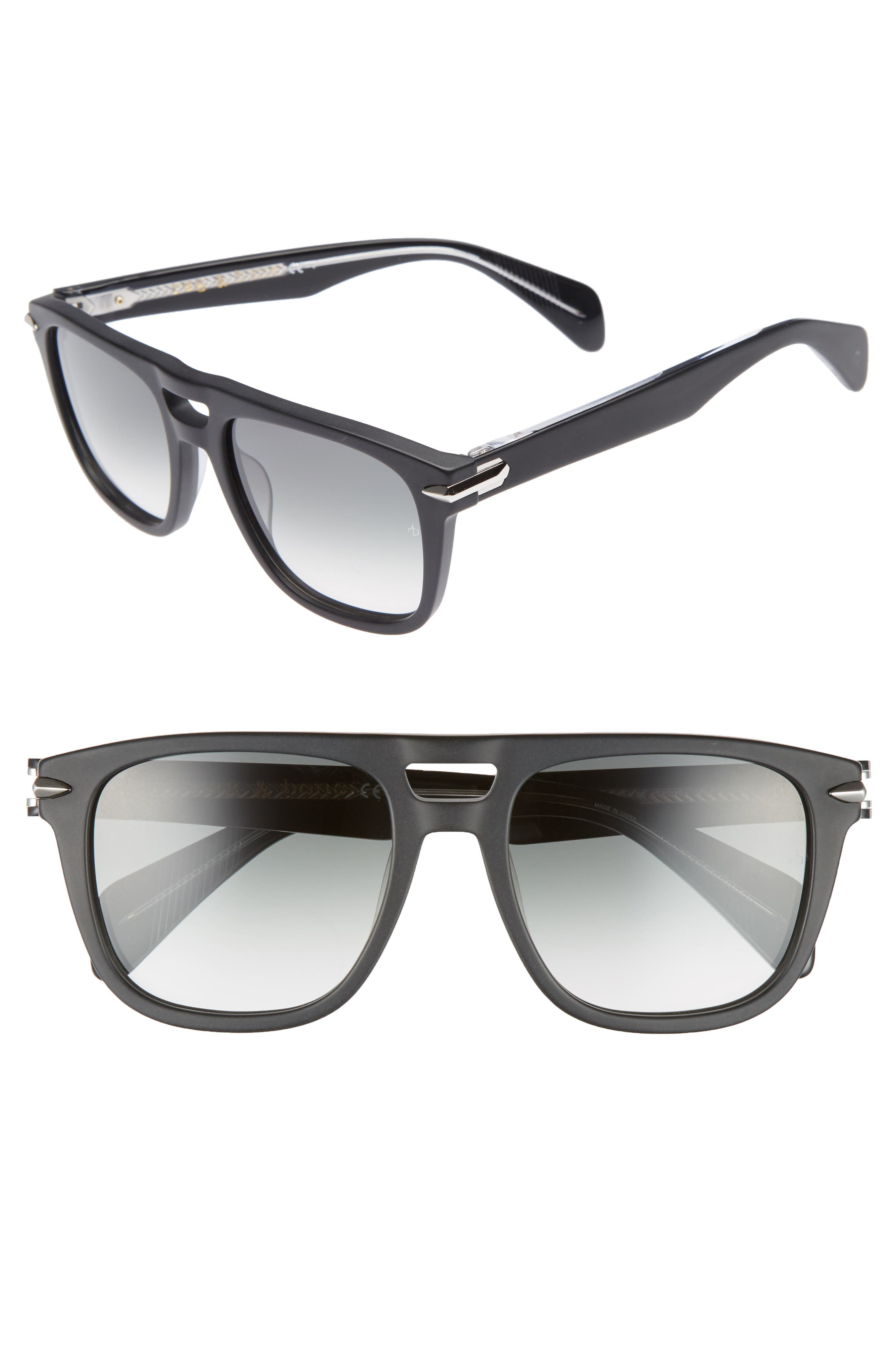 53mm Sunglasses,                             Main thumbnail 1, color,                             Matte Black