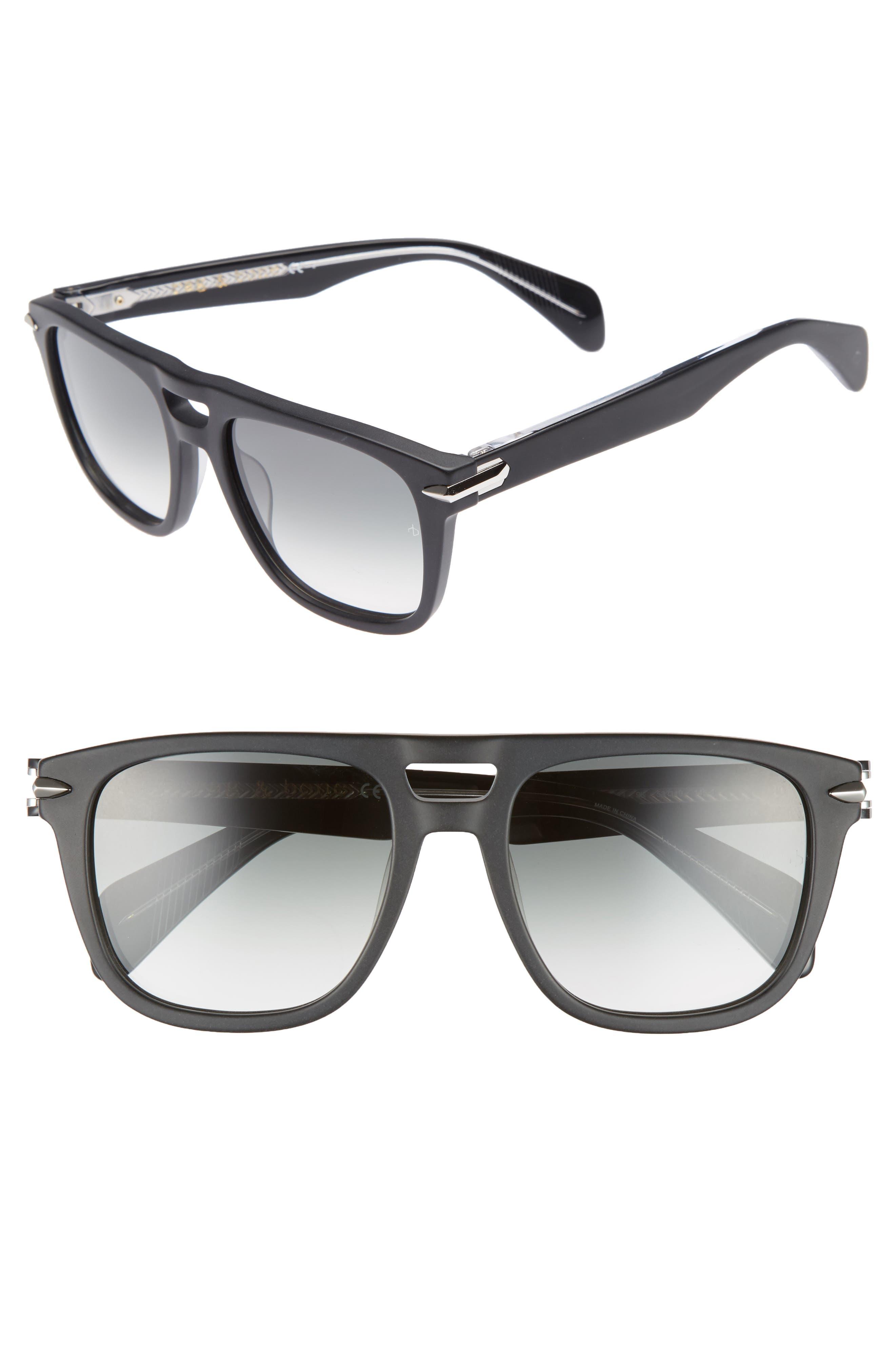 53mm Sunglasses,                         Main,                         color, Matte Black