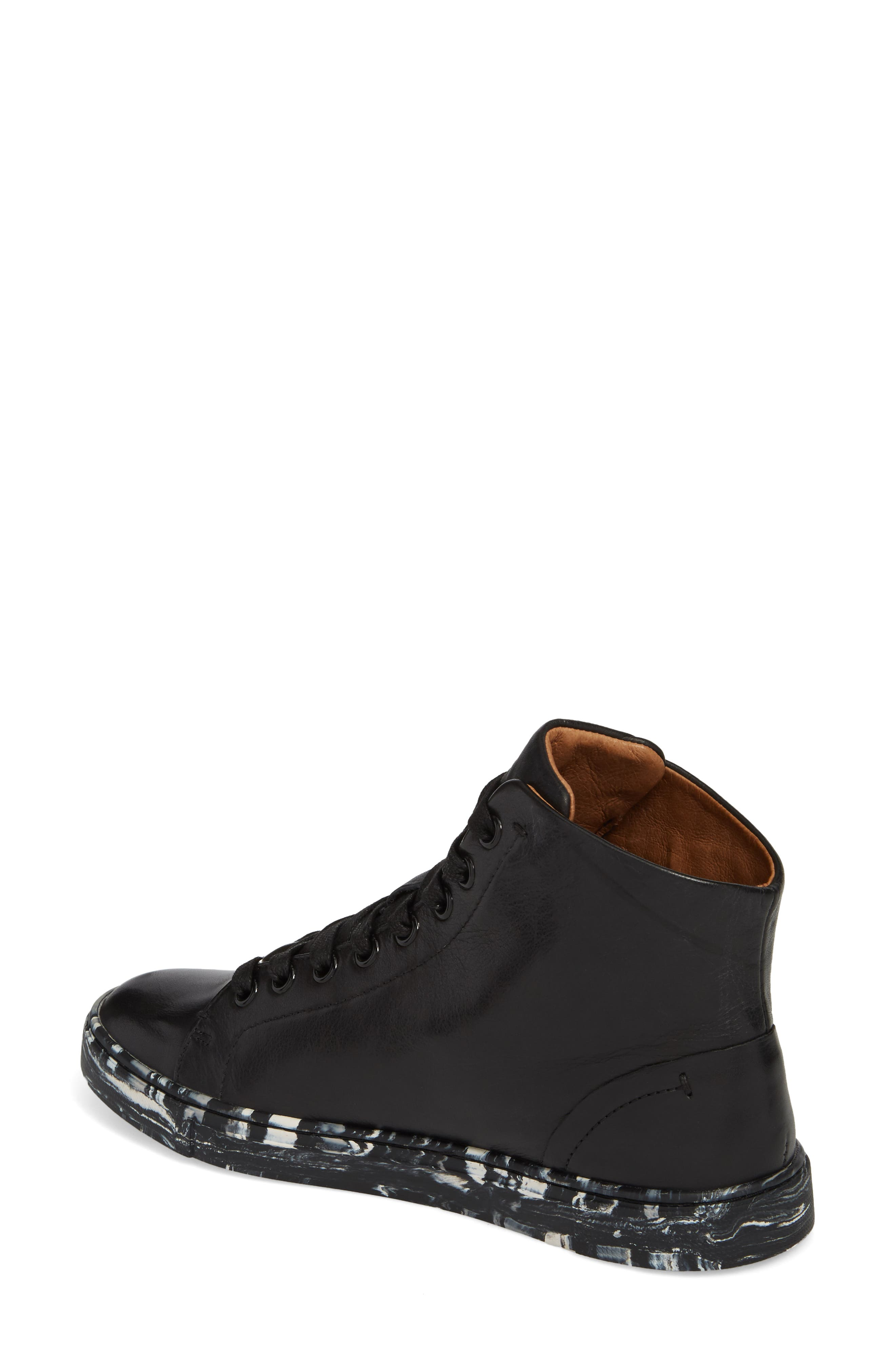 Ivy High Top Sneaker,                             Alternate thumbnail 2, color,                             Black Leather
