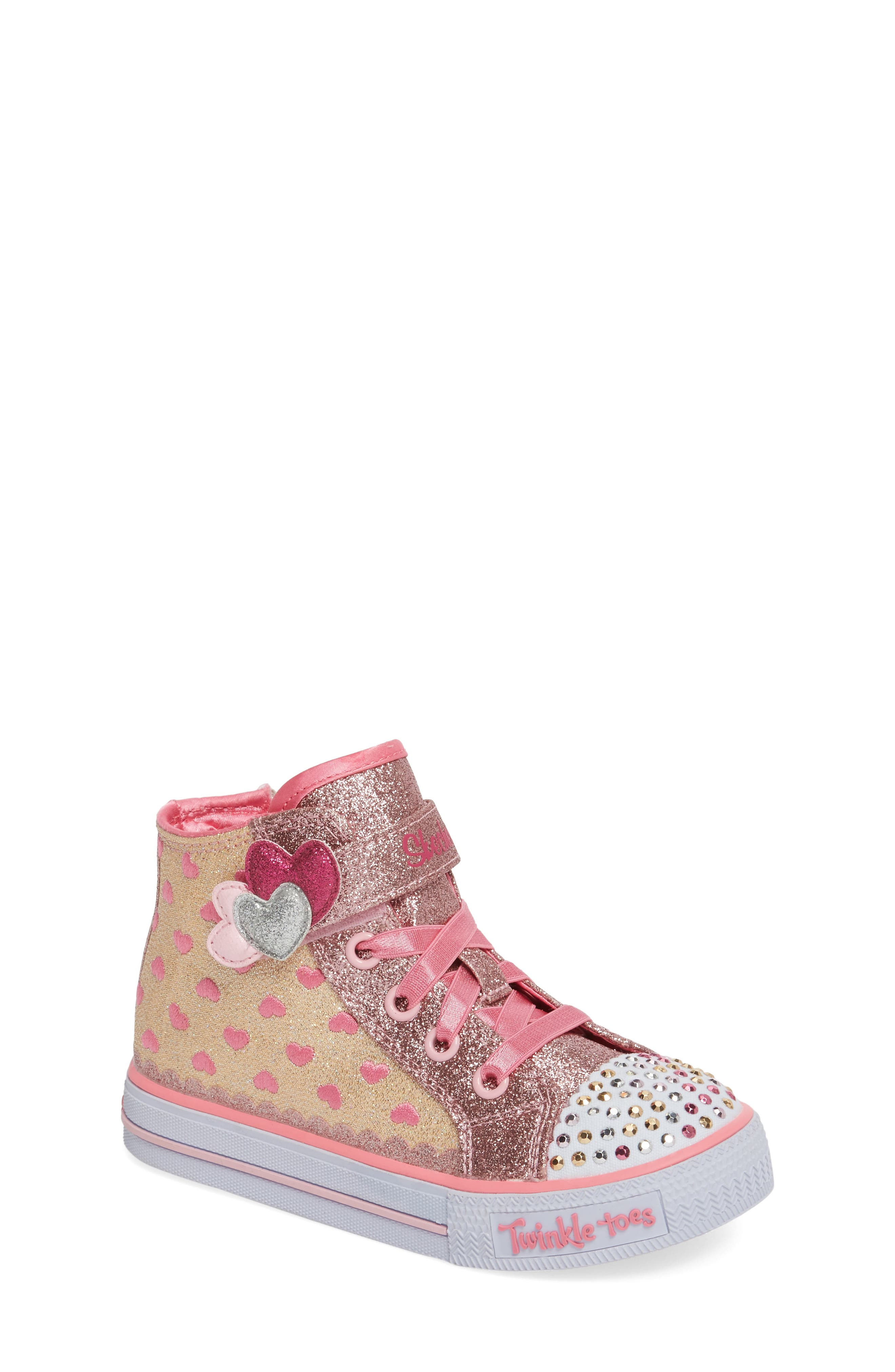 SKECHERS Twinkle Toes - Shuffles High Top Sneaker (Walker & Toddler)