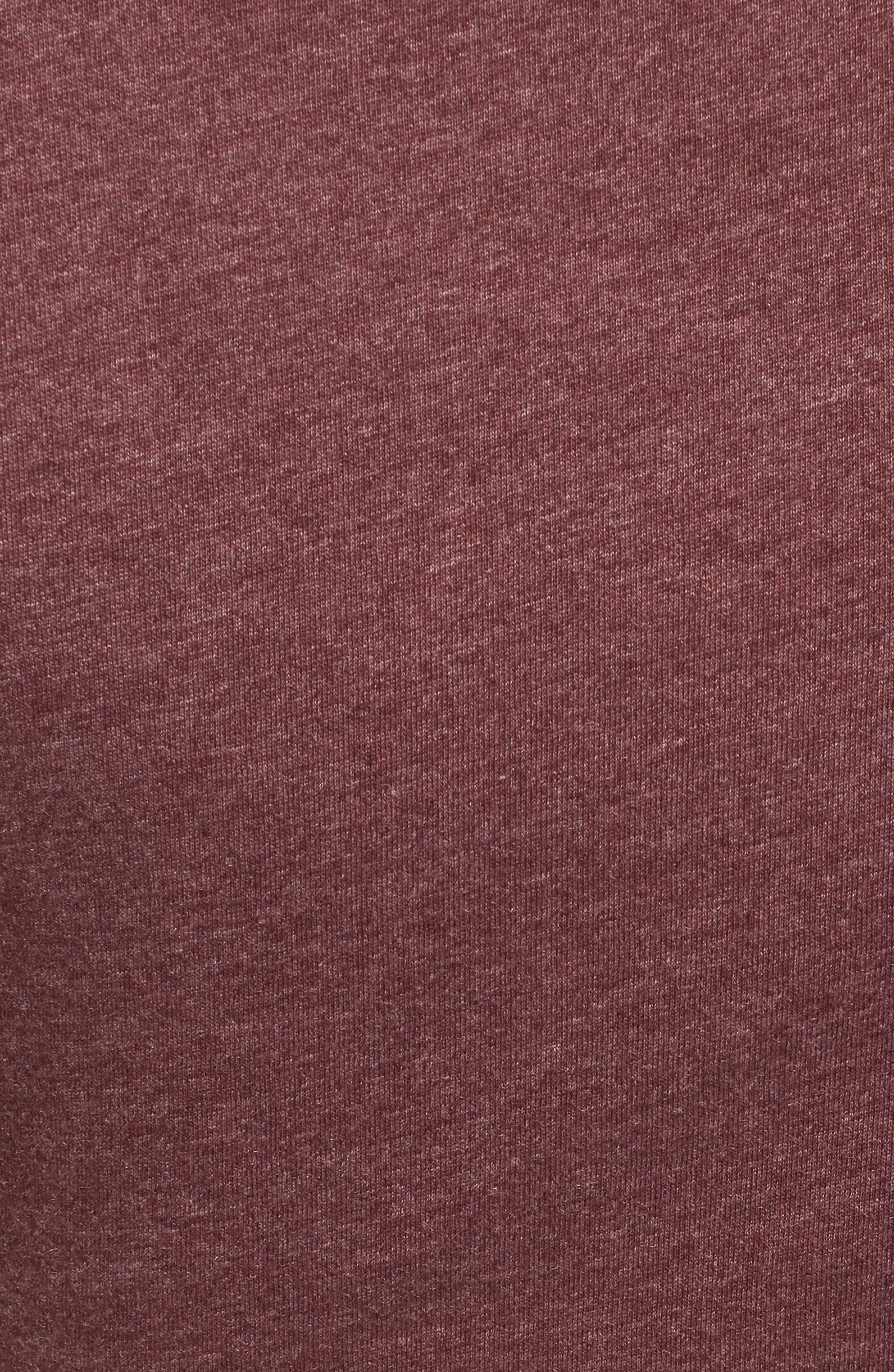 Knot Front Cutout T-Shirt Dress,                             Alternate thumbnail 5, color,                             Burgundy