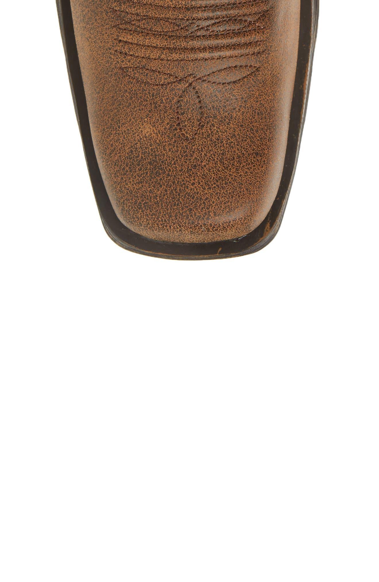 Western Rambler Cowboy Boot,                             Alternate thumbnail 5, color,                             Vintage Bomber Leather