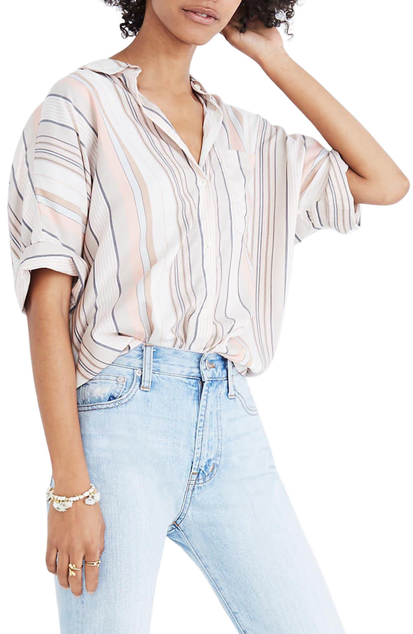 Courier Stripe Shirt,                         Main,                         color, Jumpsuit Spripe