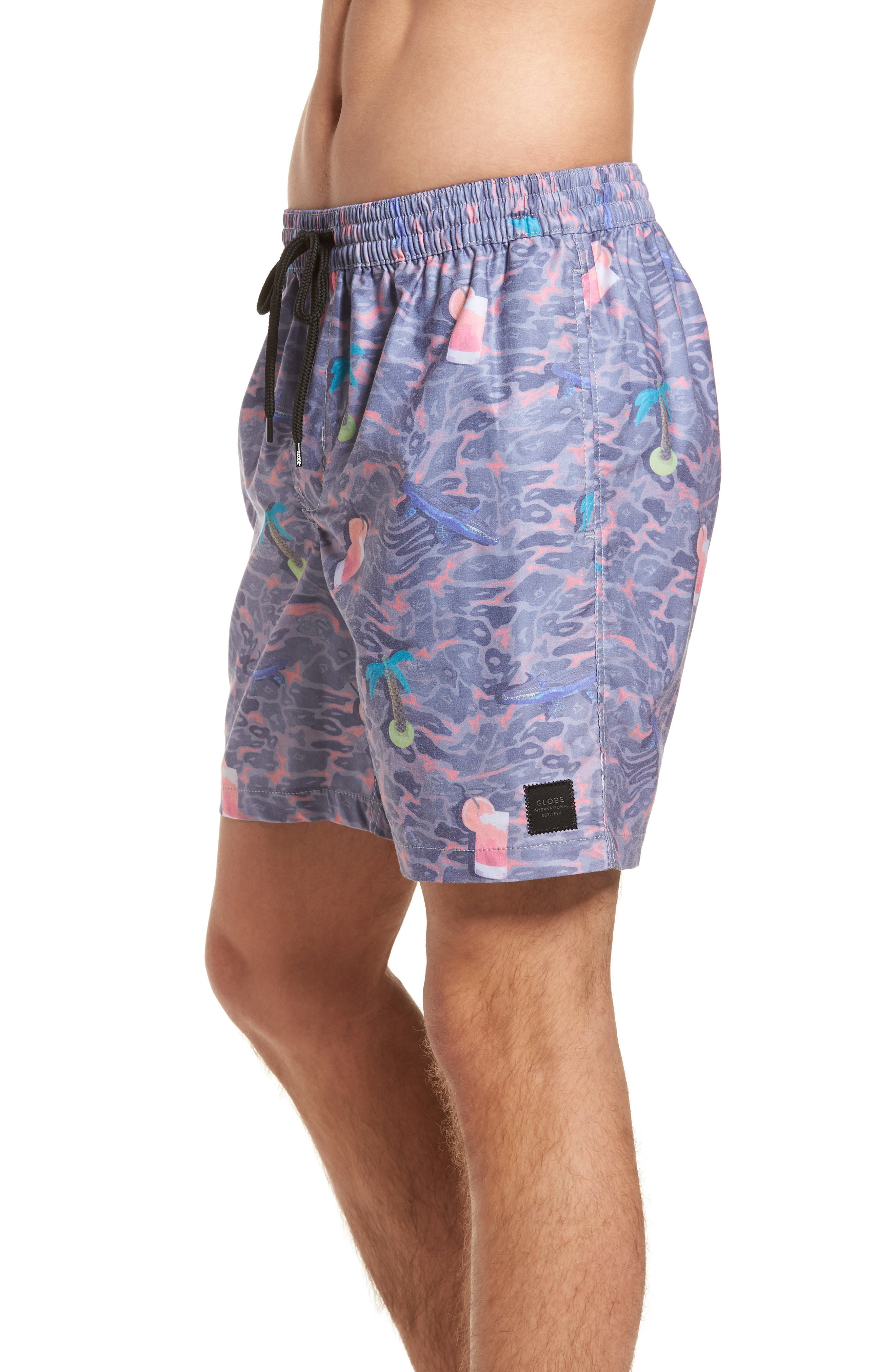 Deep End Pool Shorts,                             Alternate thumbnail 3, color,                             Dusty Coral