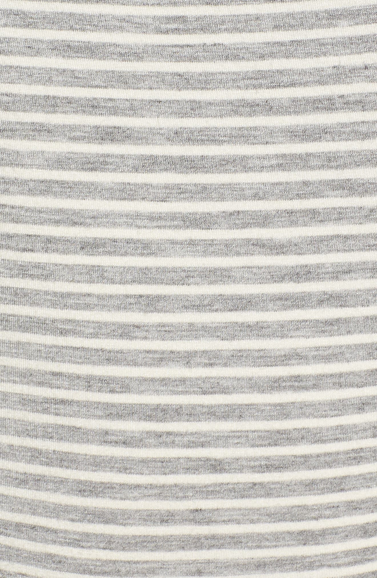 Luna Stripe Bodysuit,                             Alternate thumbnail 5, color,                             Heather Grey Multi