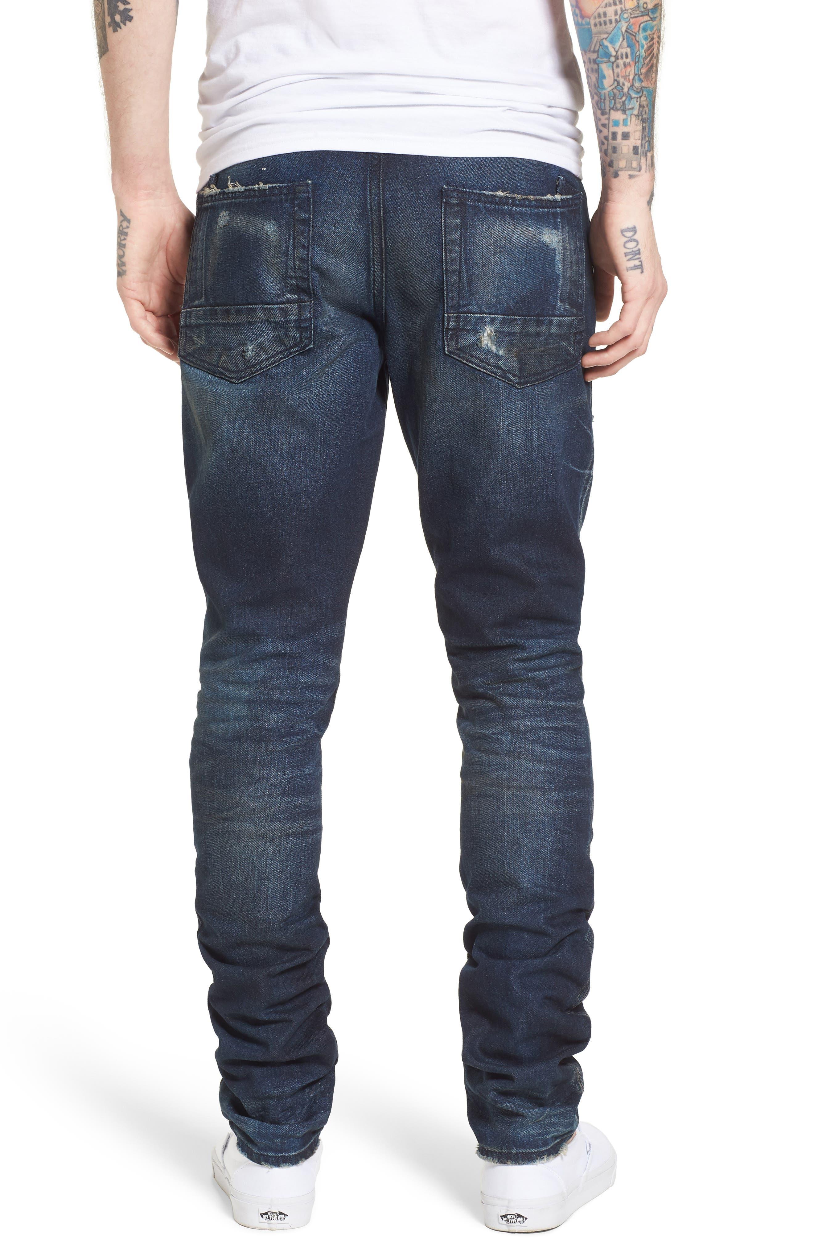 Denim Slim Straight Leg Jeans,                             Alternate thumbnail 2, color,                             Impact