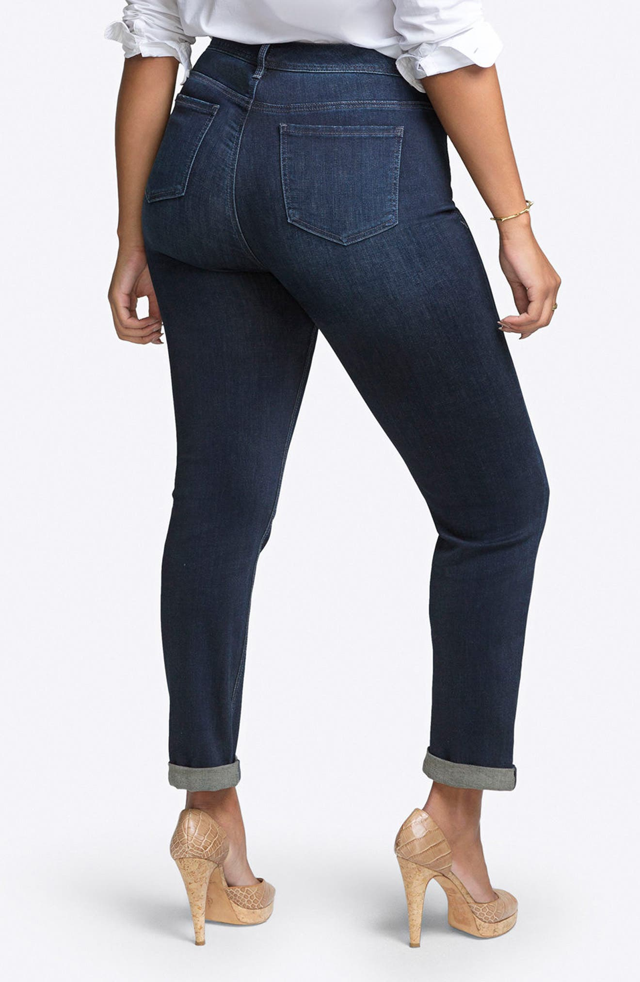 Rolled Slim Straight Leg Jeans,                             Alternate thumbnail 2, color,                             Tempest