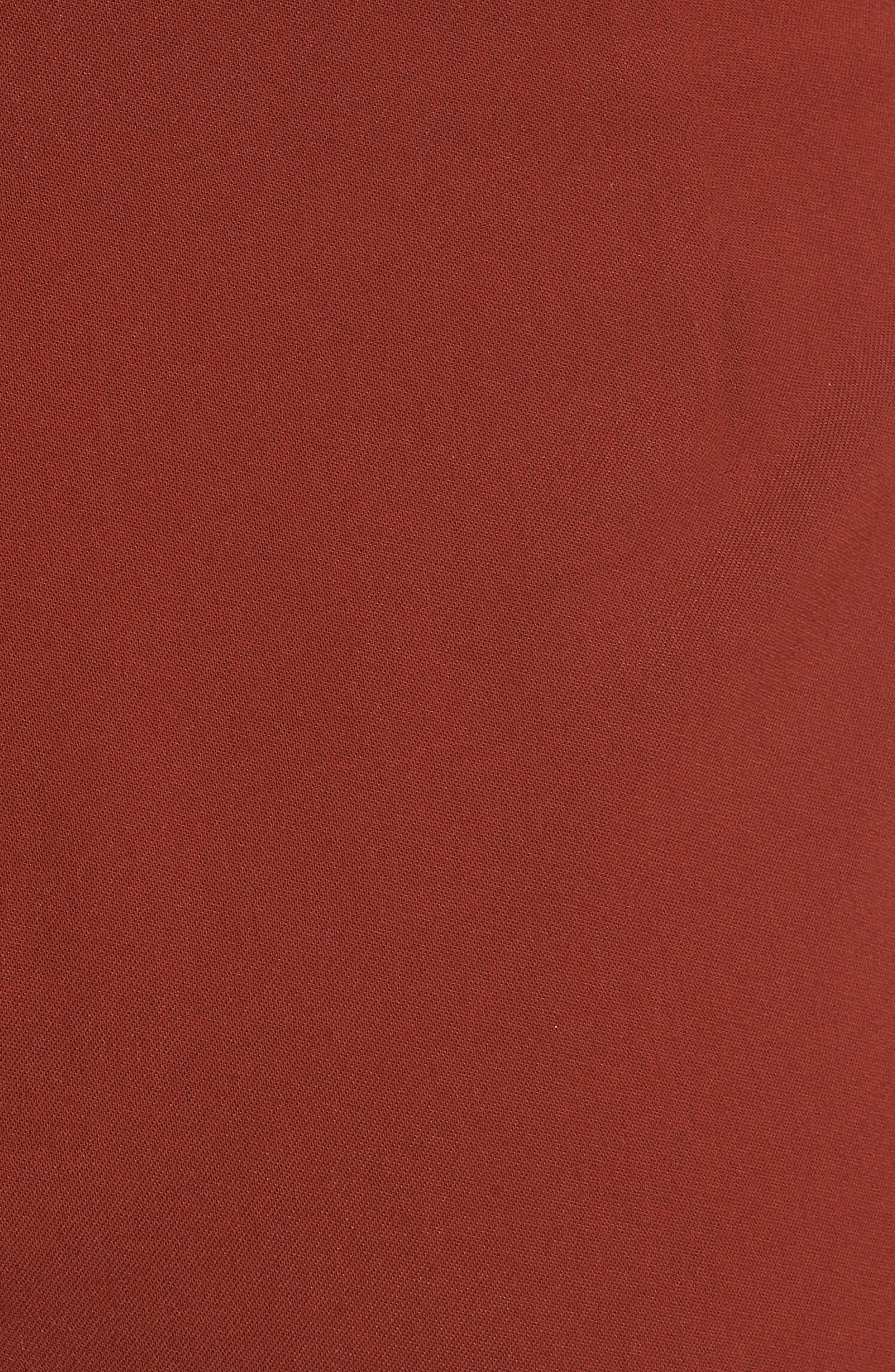Tie Waist Short,                             Alternate thumbnail 5, color,                             Auburn