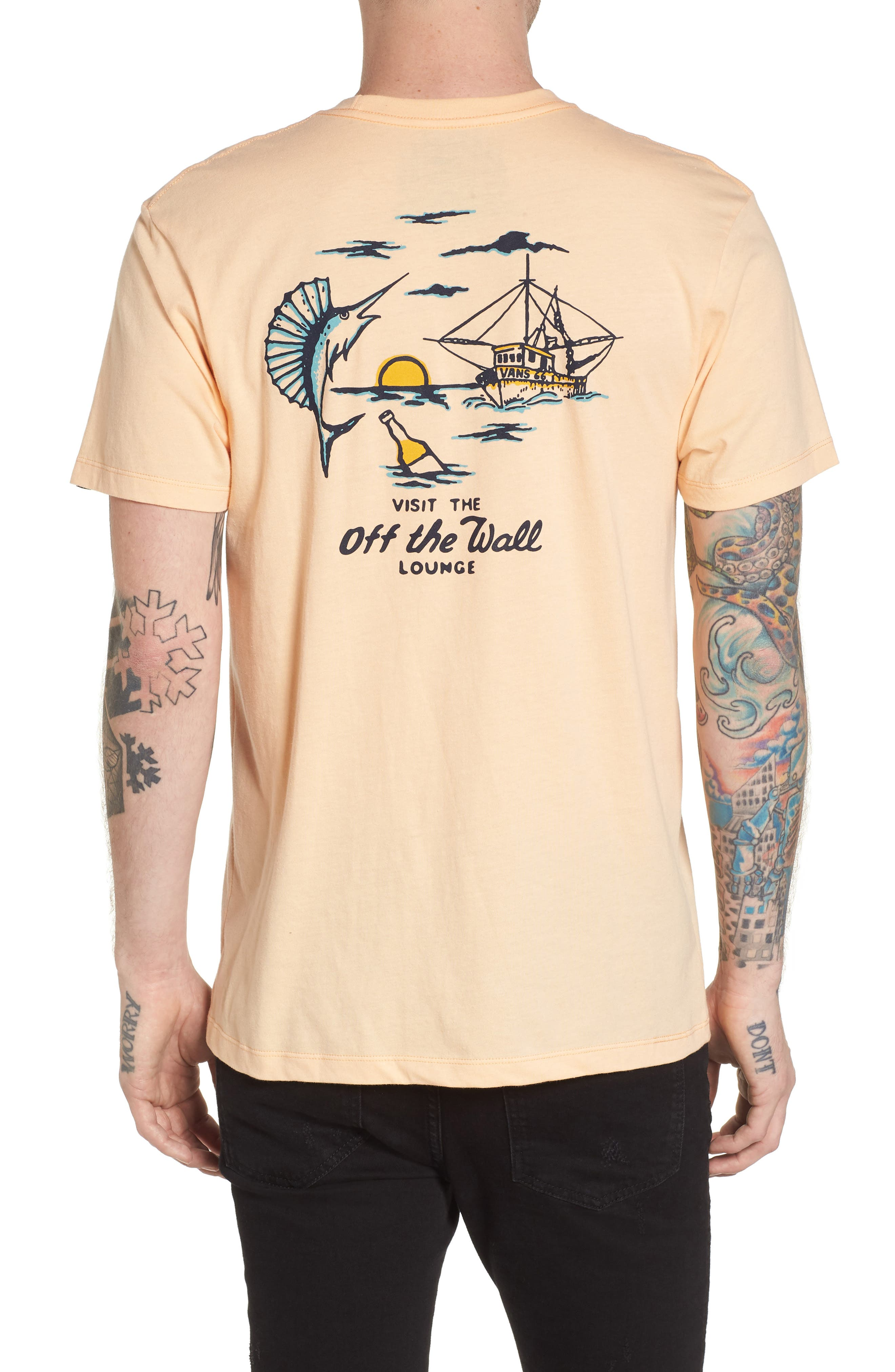 Off the Wall Lounge T-Shirt,                             Alternate thumbnail 2, color,                             Apricot Ice