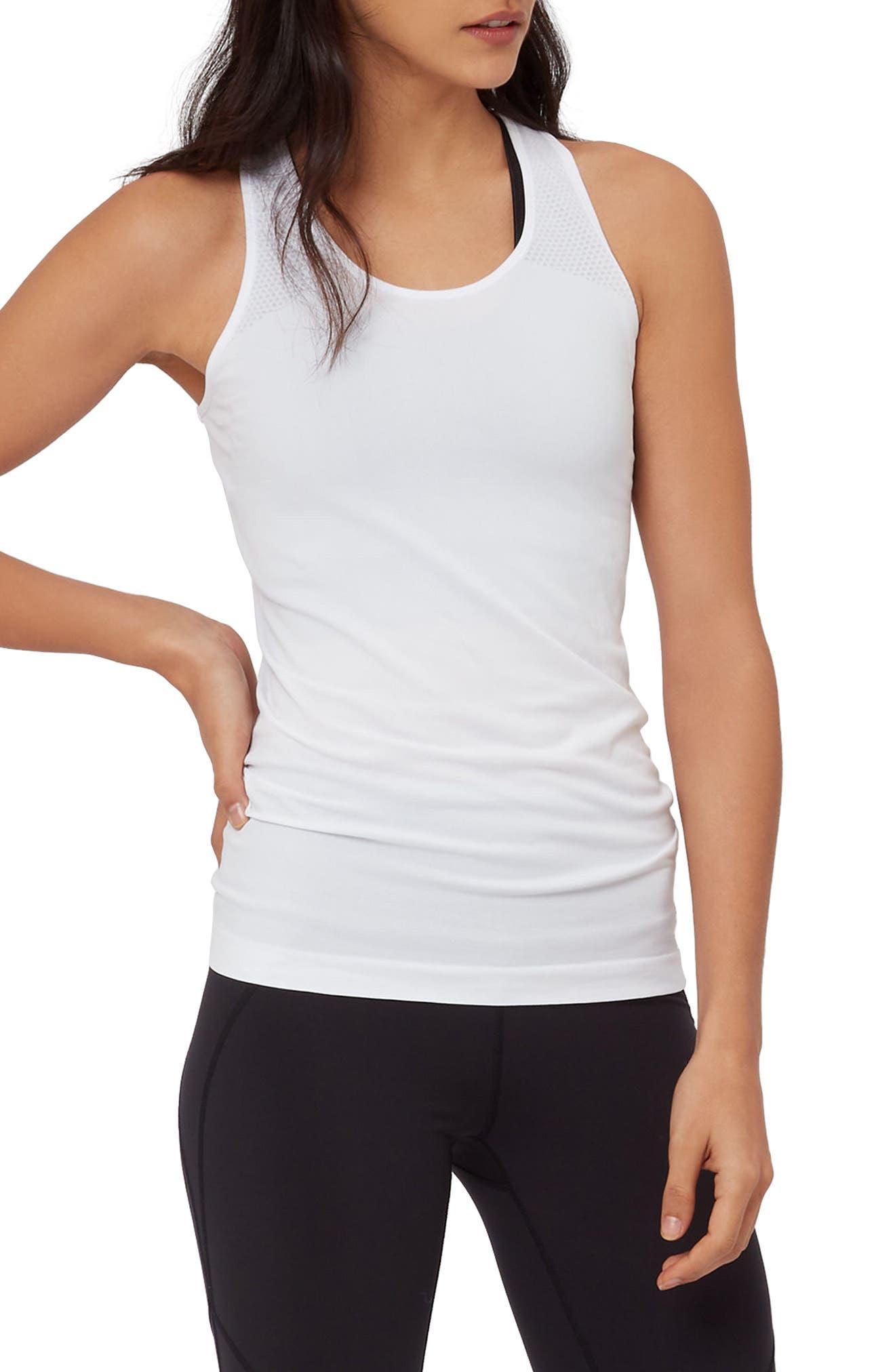 Athlete Seamless Workout Tank,                             Main thumbnail 1, color,                             White