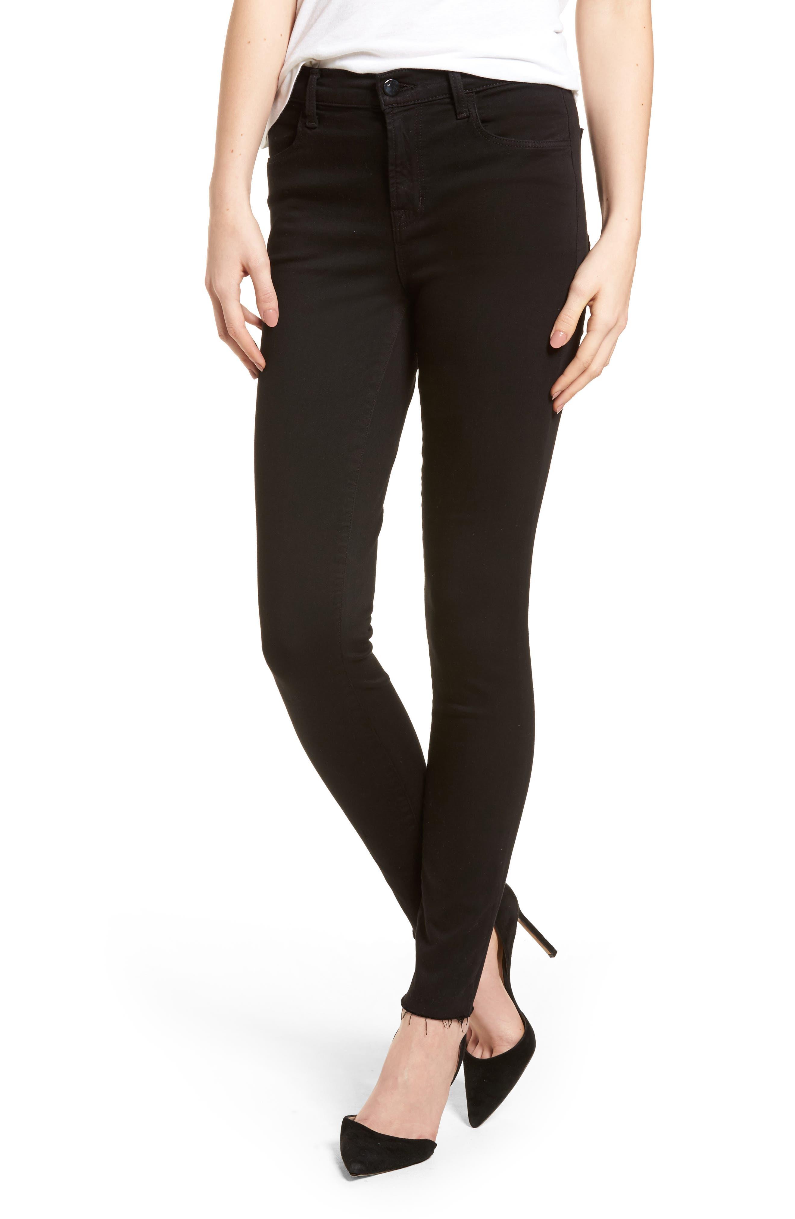 J Brand Maria High Waist Skinny Jeans (Black Bastille) (Nordstrom Exclusive)