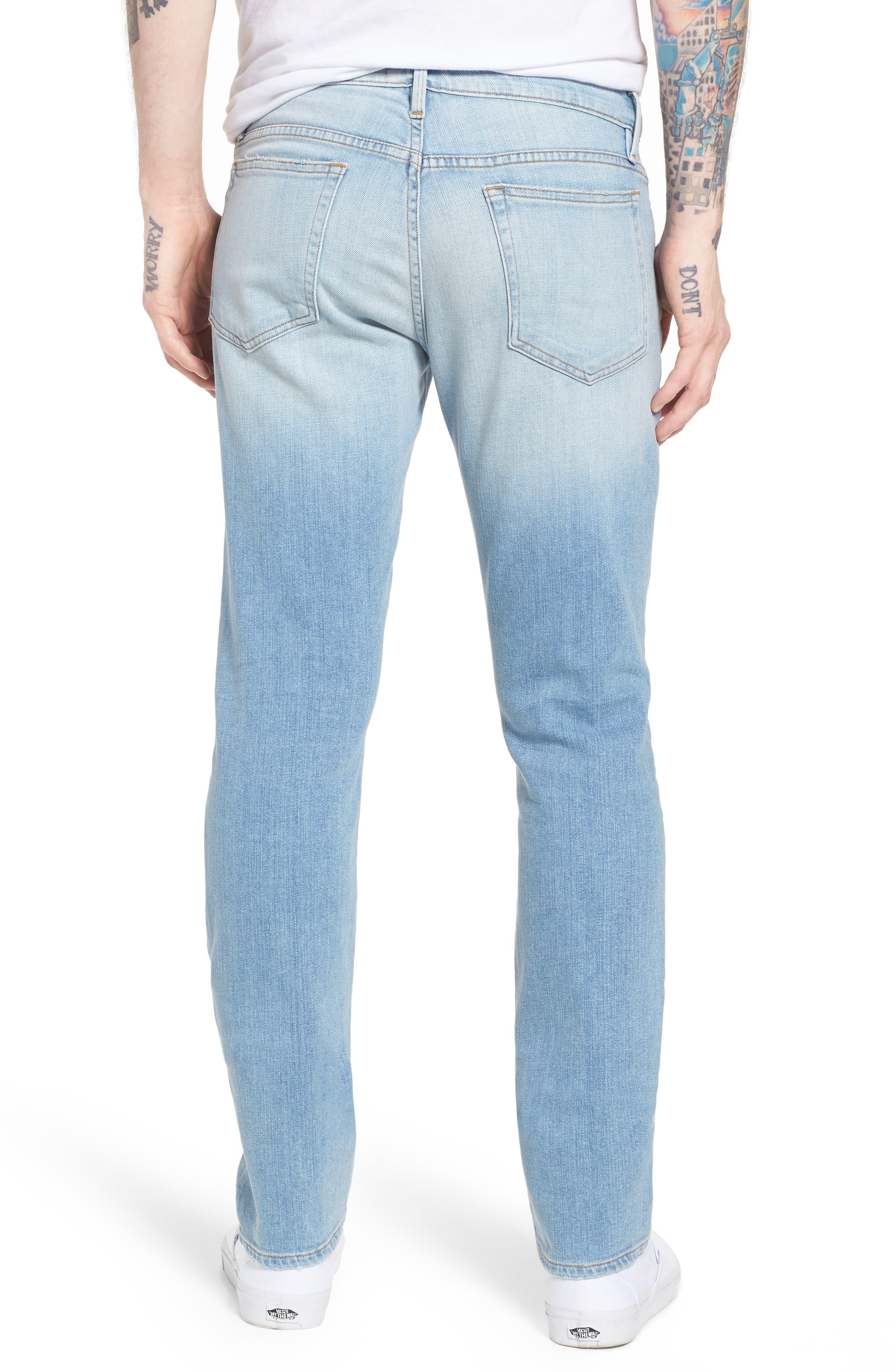 L'Homme Straight Leg Jeans,                             Alternate thumbnail 2, color,                             Finn