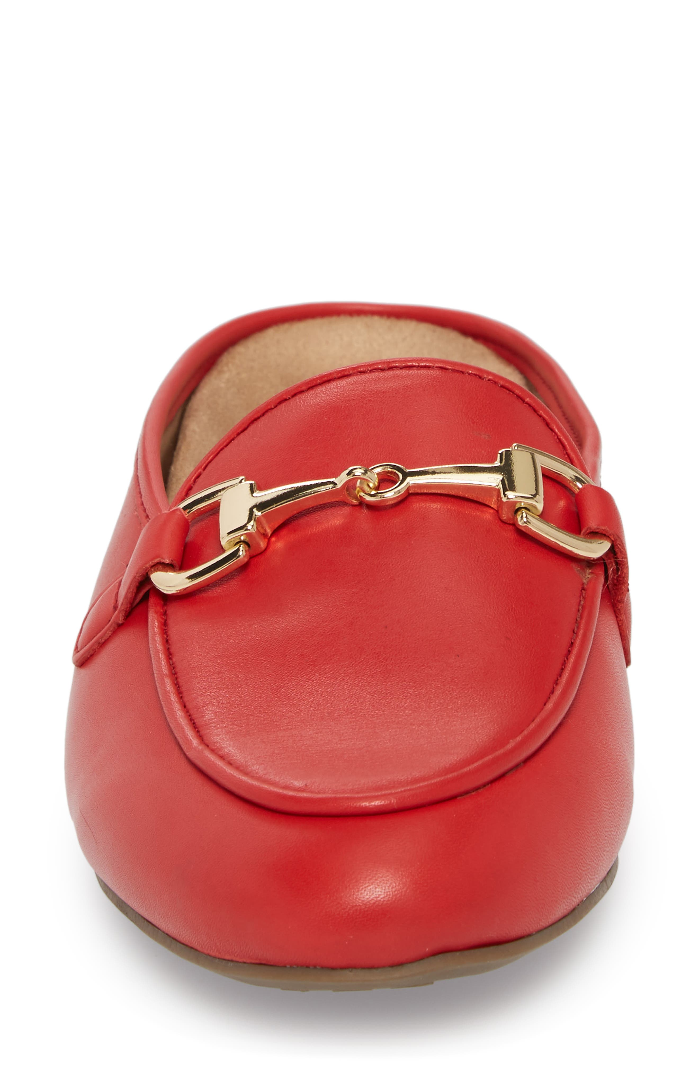 Adeline Mule,                             Alternate thumbnail 4, color,                             Red Leather