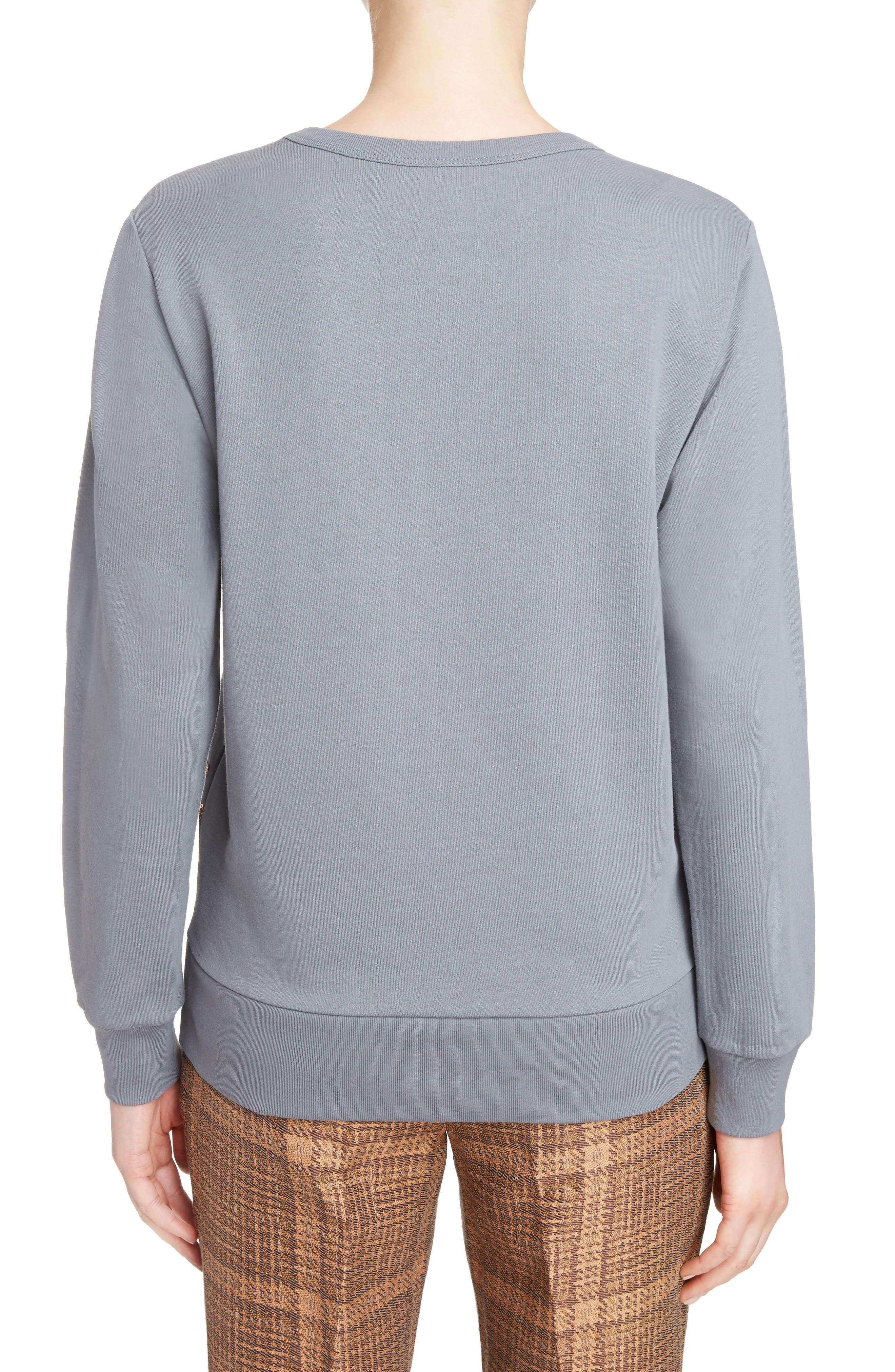 Sequin Embellished Sweatshirt,                             Alternate thumbnail 2, color,                             Grey