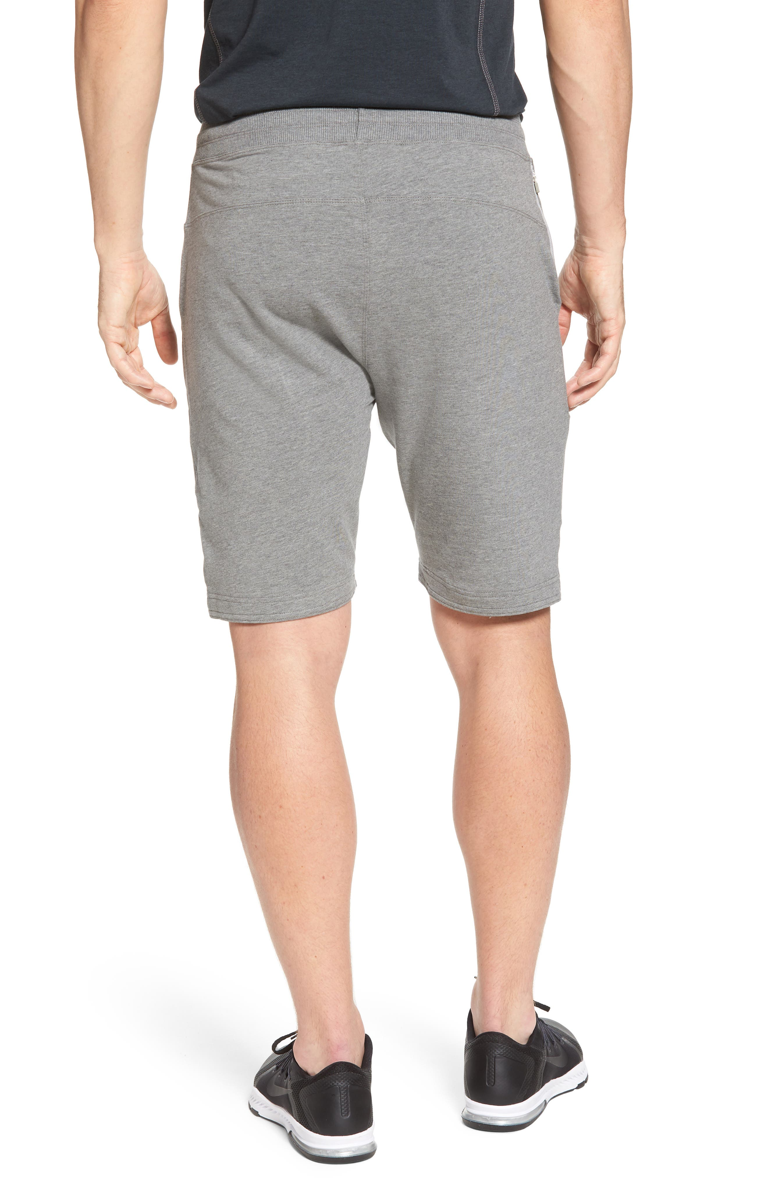 Legacy Lounge Shorts,                             Alternate thumbnail 2, color,                             Heather Grey