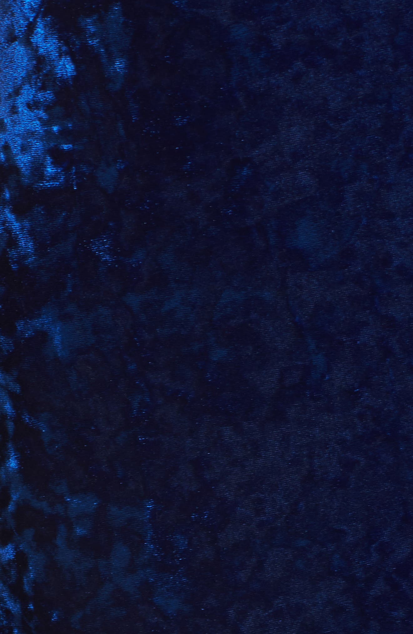Cleo Strappy Back Velvet Gown,                             Alternate thumbnail 5, color,                             Sapphire
