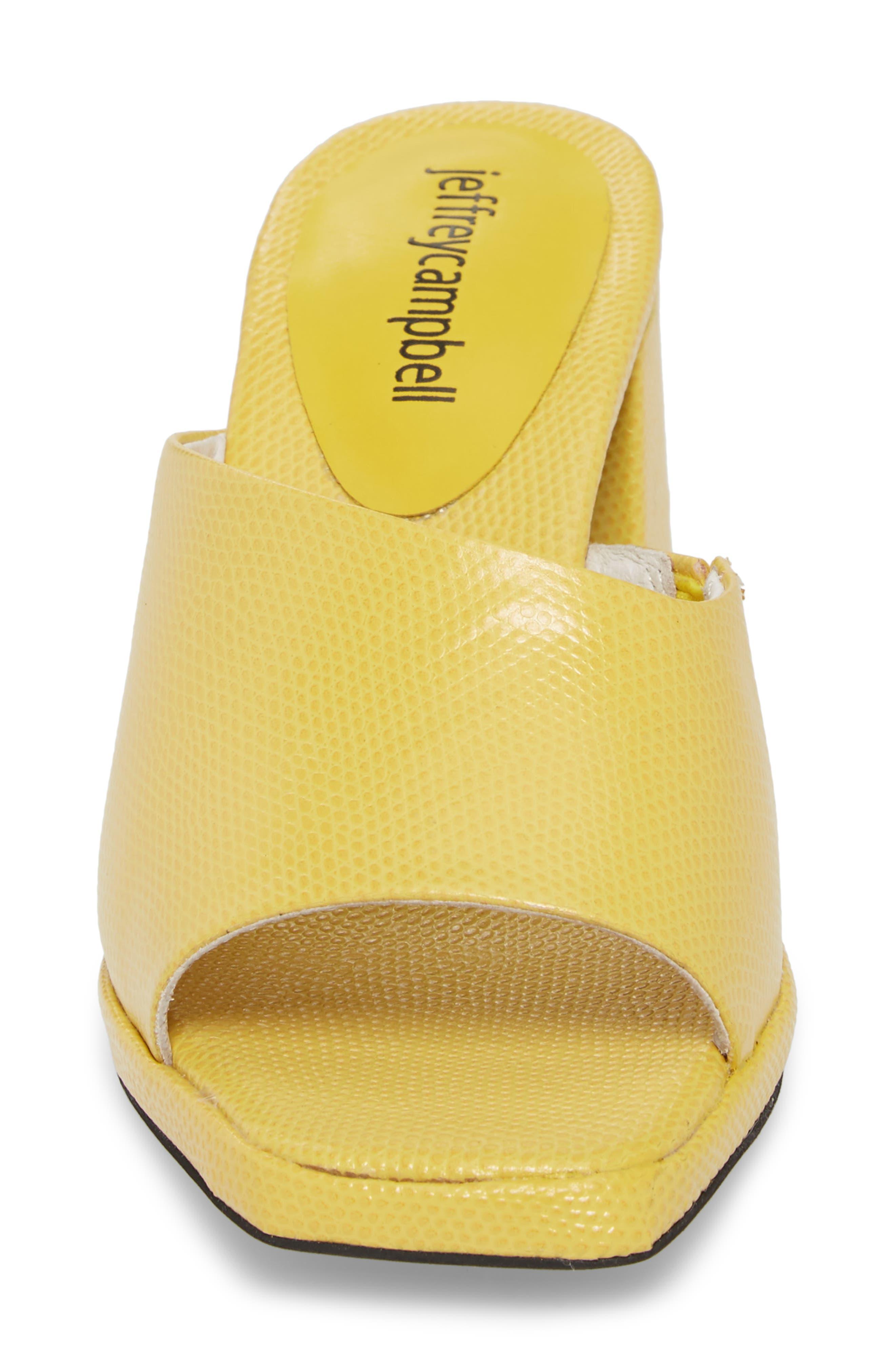 Suzuci Sandal,                             Alternate thumbnail 4, color,                             Yellow Leather