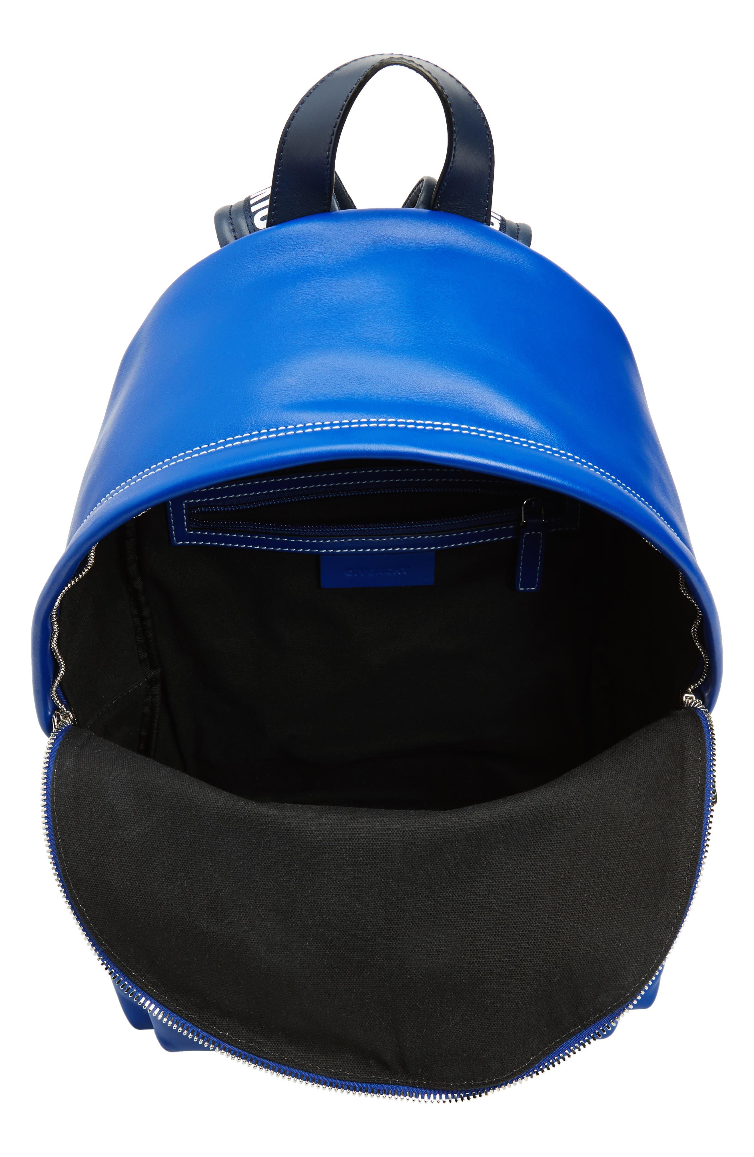 Logo Strap Backpack,                             Alternate thumbnail 4, color,                             Morroccan Blue