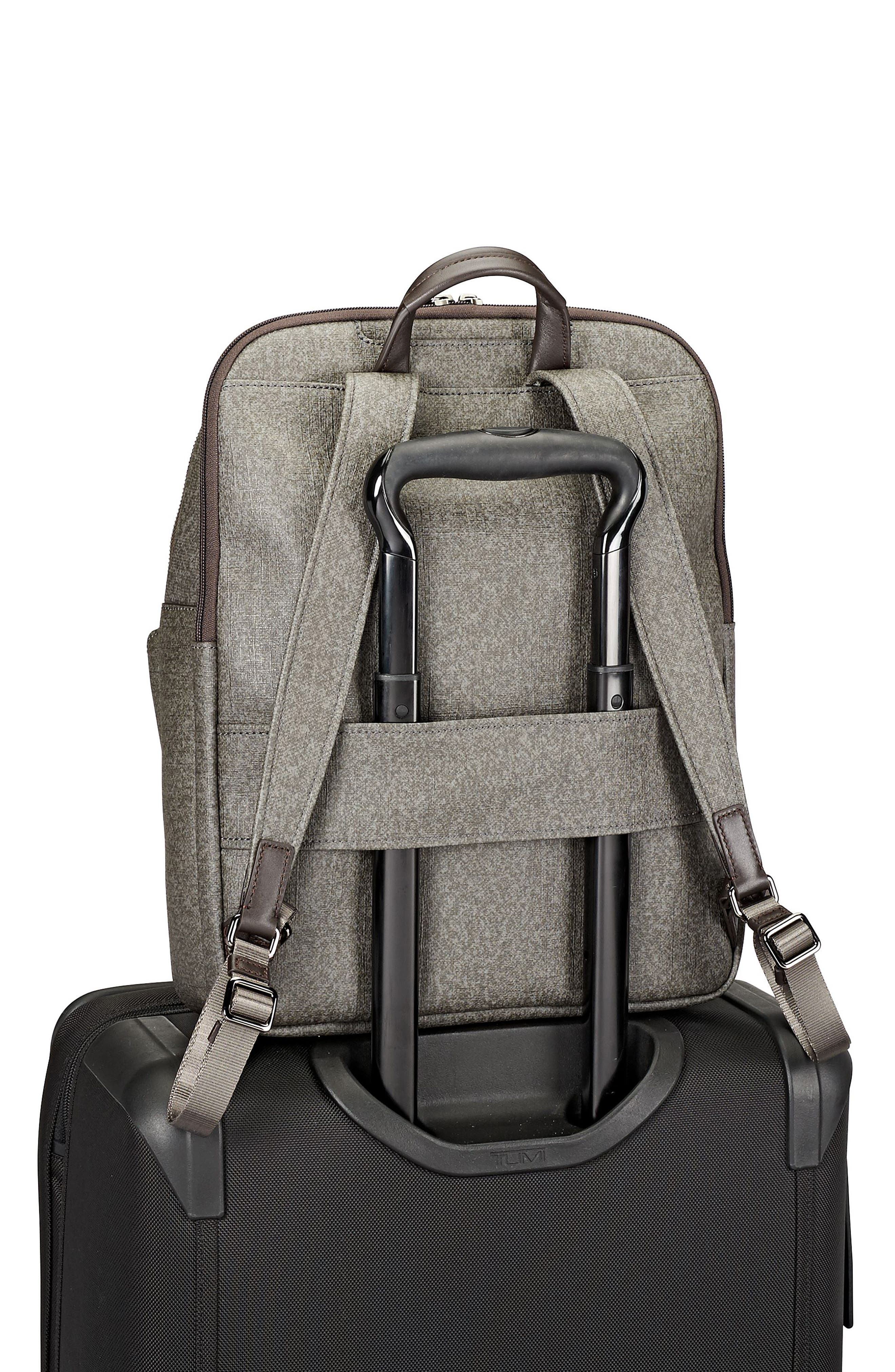 Stanton – Hettie Coated Canvas Backpack,                             Alternate thumbnail 6, color,                             Earl Grey