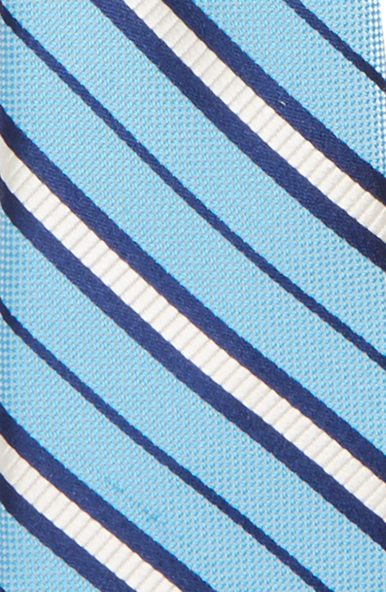 Candy Stripe Silk Zip Tie,                             Alternate thumbnail 2, color,                             Light Blue
