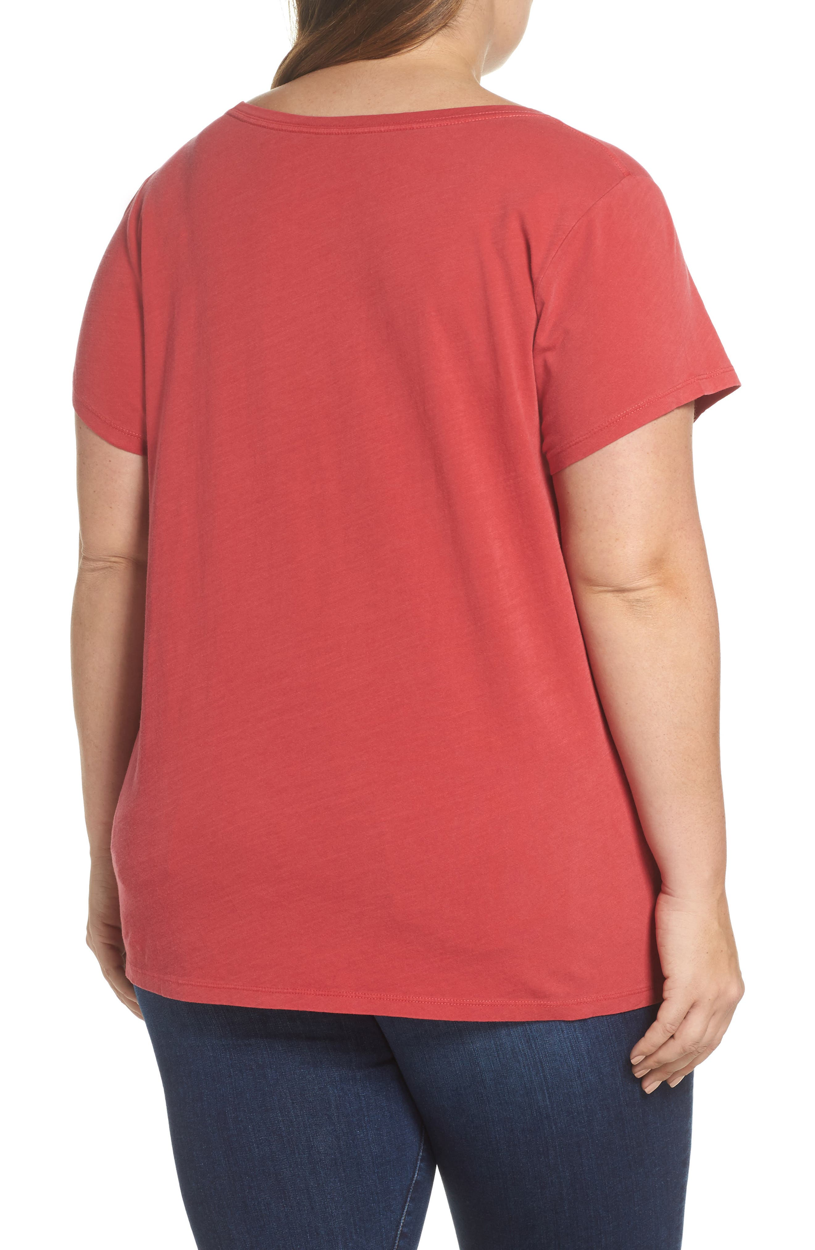 Flowers Tee,                             Alternate thumbnail 2, color,                             Red