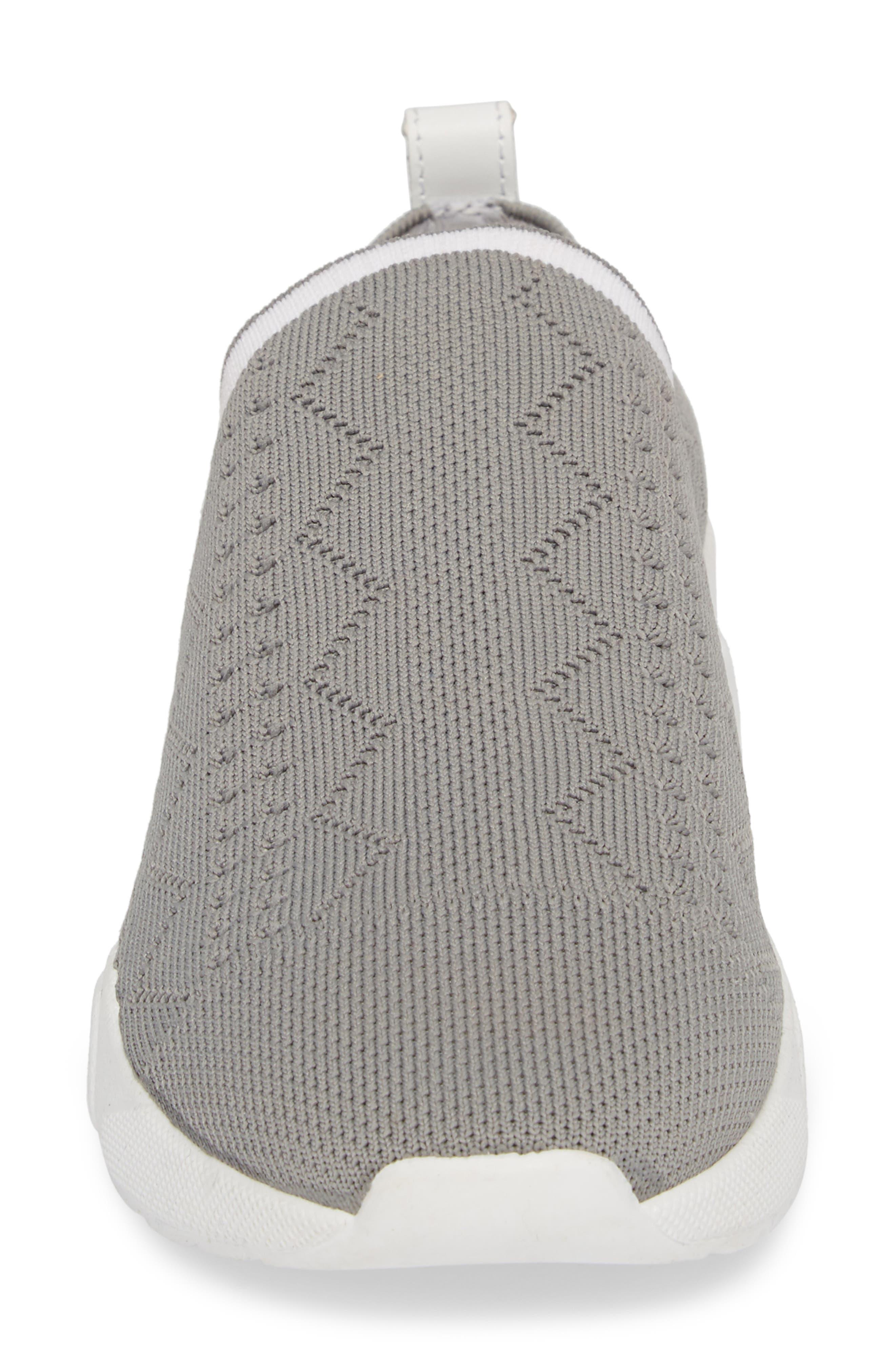 Karrie Slip-On Sneaker,                             Alternate thumbnail 4, color,                             Grey Stretch Fabric