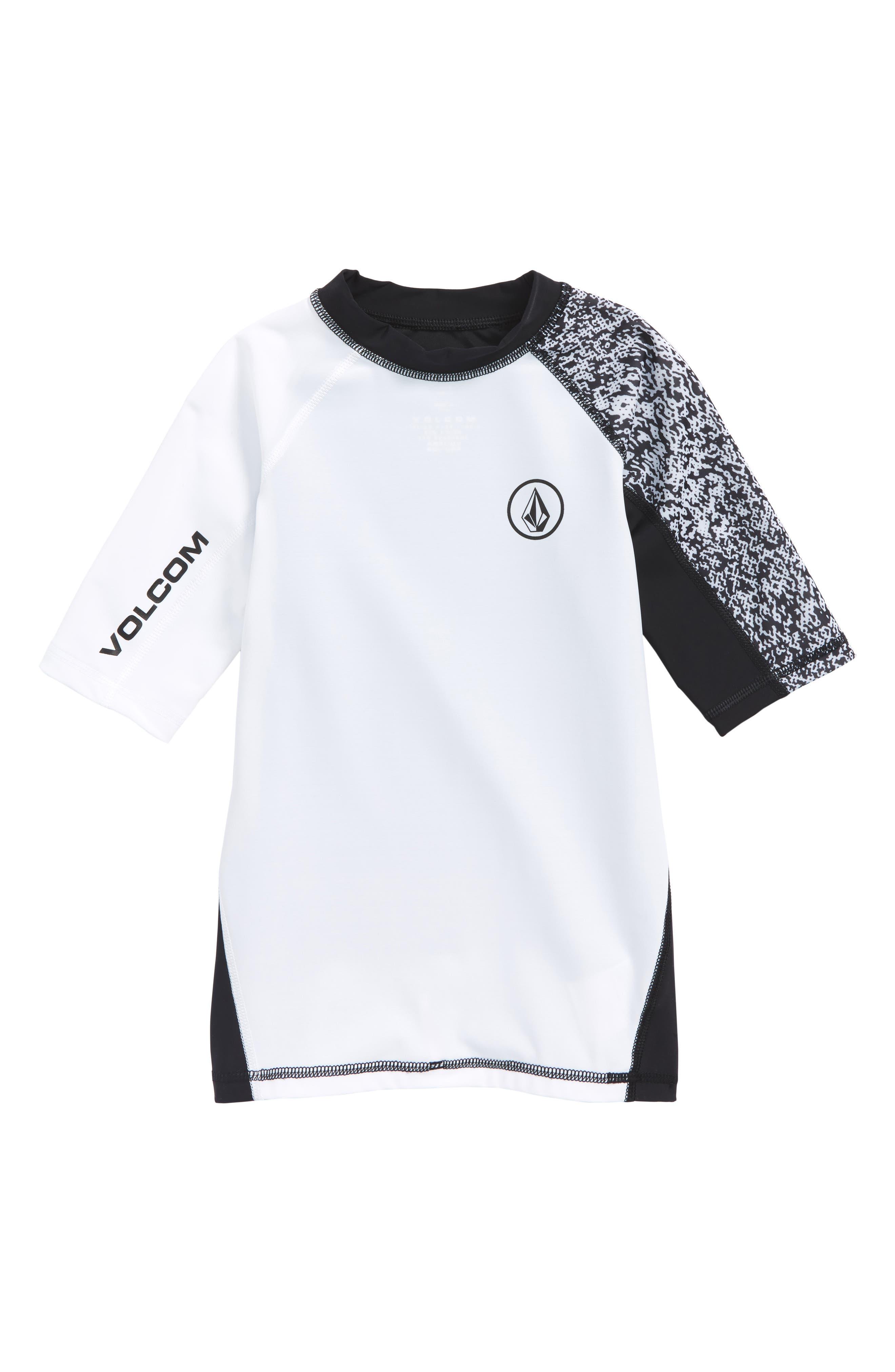 Lido Block Short Sleeve Rashguard,                         Main,                         color, White