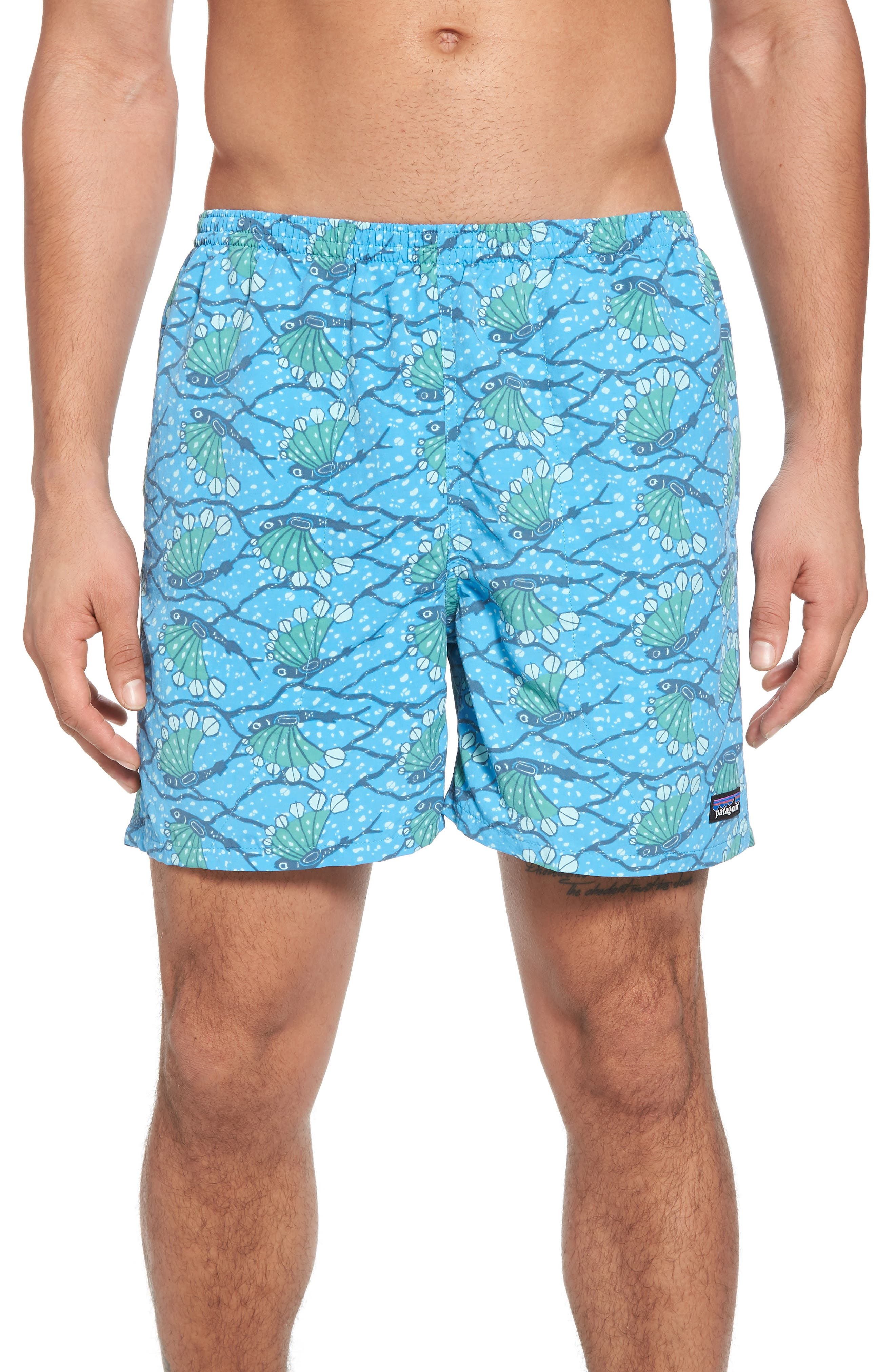 Baggies 5-Inch Swim Trunks,                         Main,                         color, Hexy Fish Radar Blue