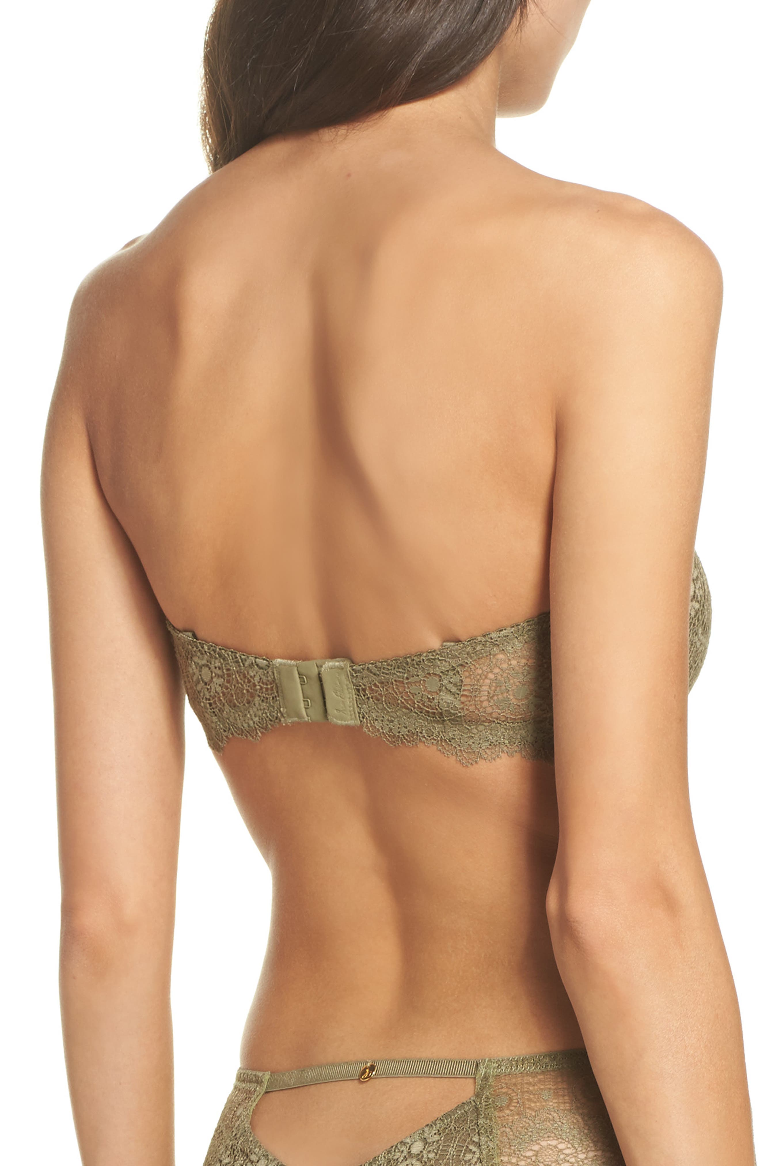 Strapless Underwire Lace Bra,                             Alternate thumbnail 2, color,                             Mermaid
