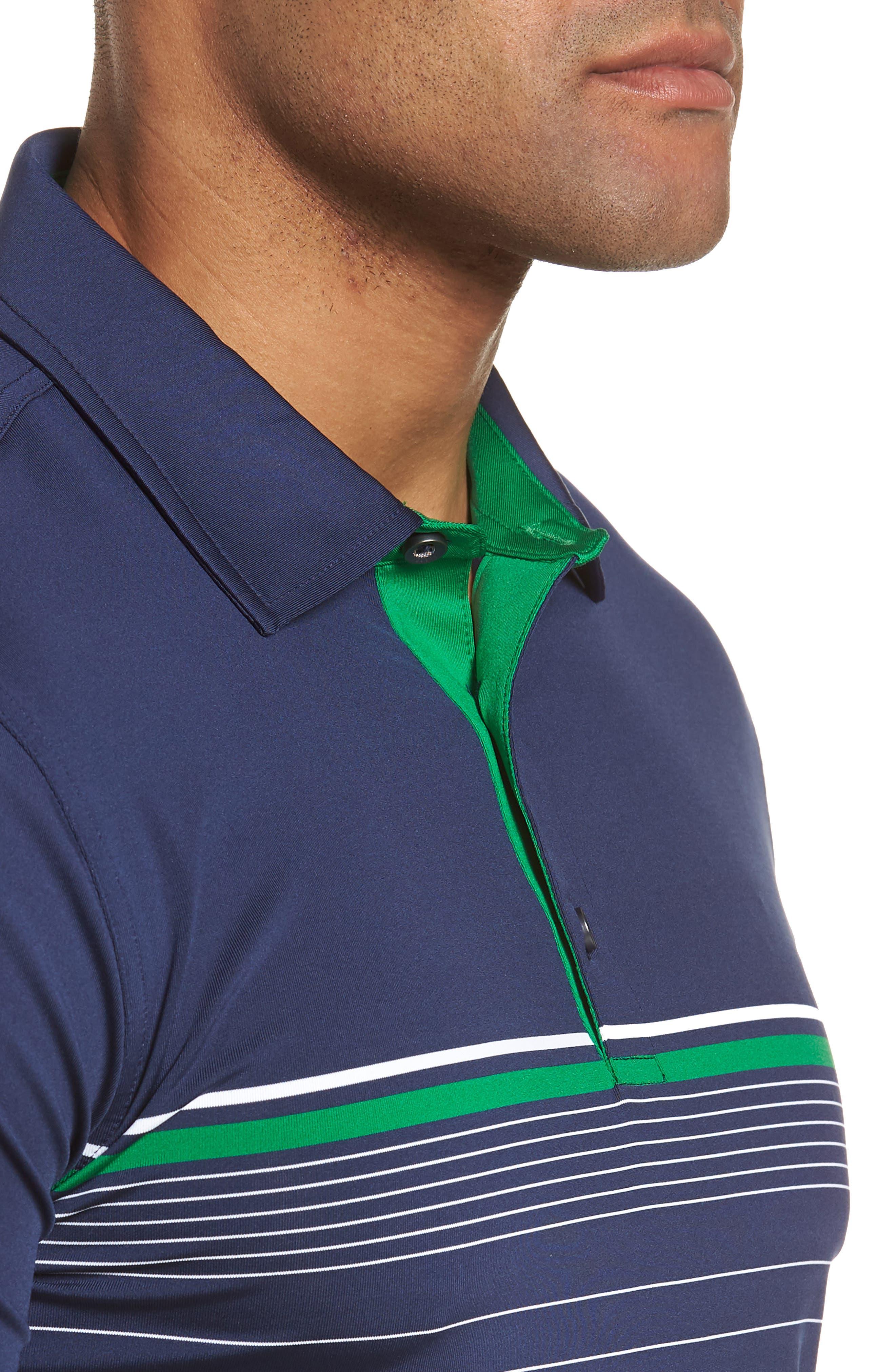R18 Tech Skill Stripe Polo,                             Alternate thumbnail 4, color,                             Navy