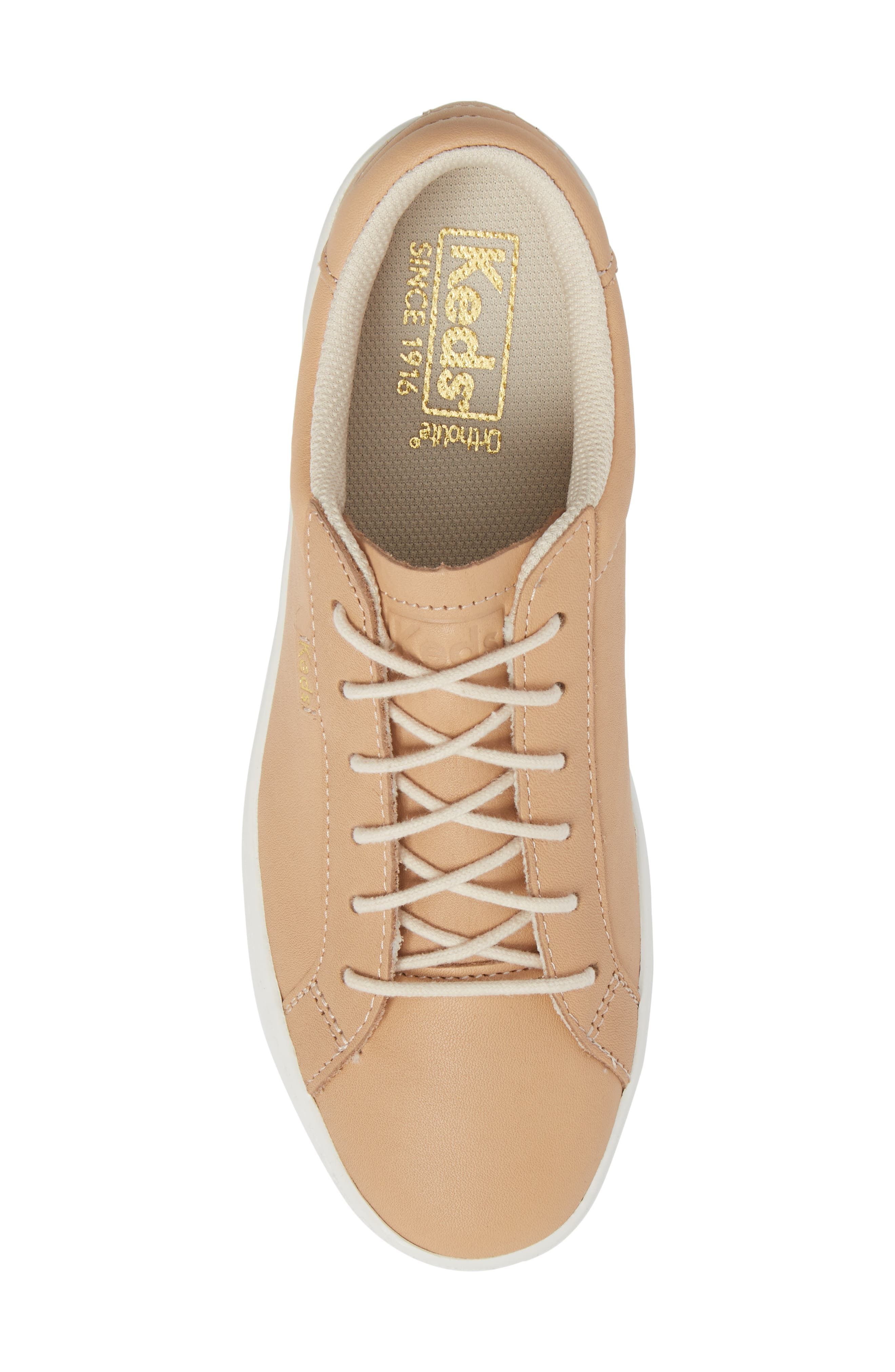 Ace Leather Sneaker,                             Alternate thumbnail 5, color,                             Natural